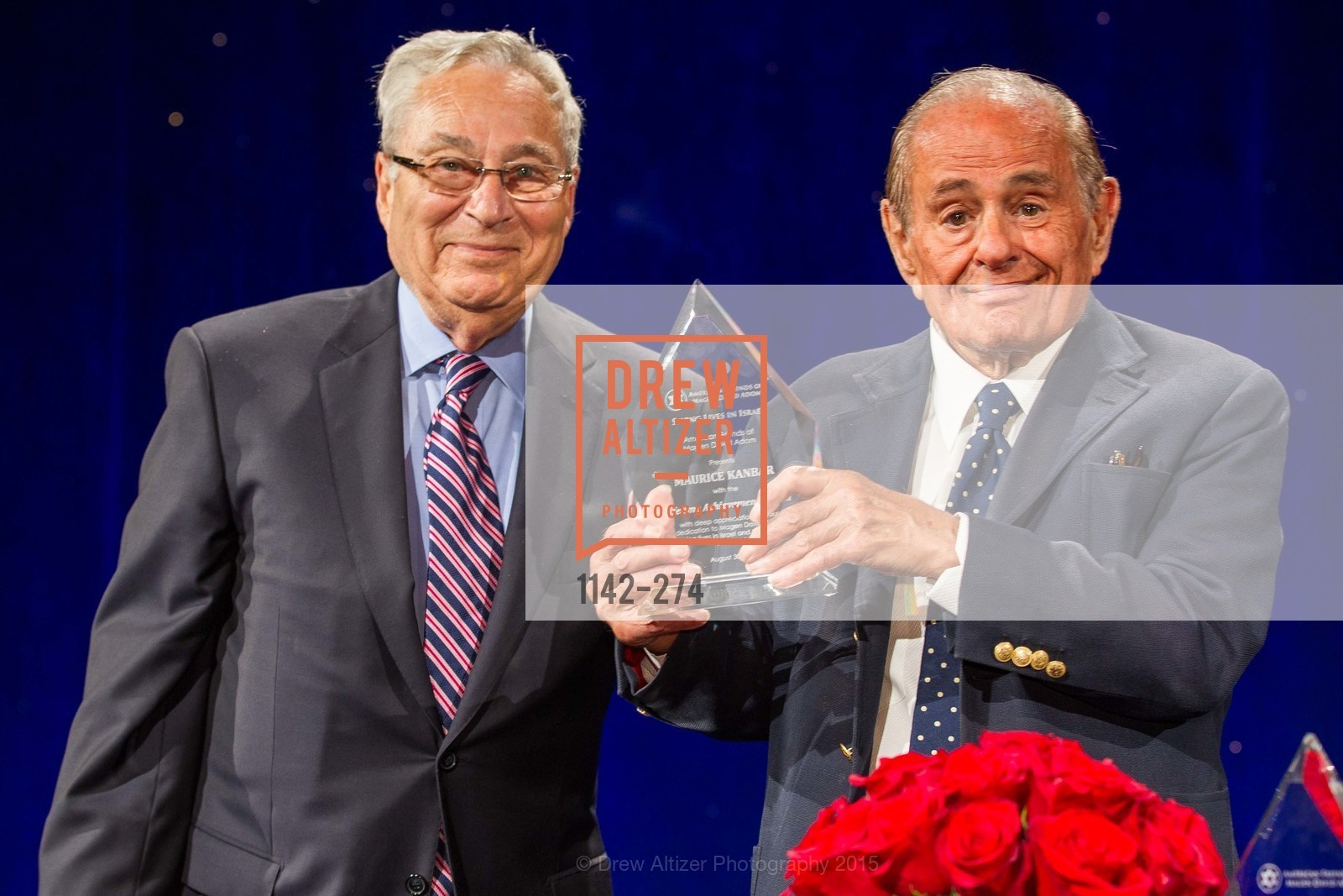 Dick Rosenberg, Maurice Kanbar, American Friends of Magen David Adom Inaugural Red Star Gala, Hilton Union Square. 333 O'Farrell St, August 30th, 2015,Drew Altizer, Drew Altizer Photography, full-service agency, private events, San Francisco photographer, photographer california