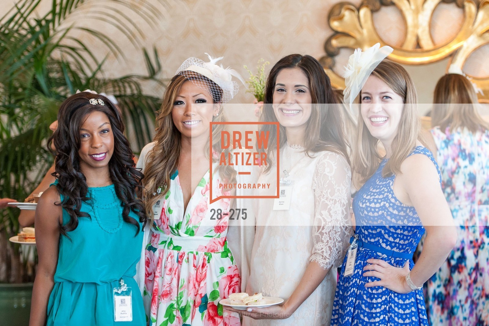 Allie Padilla, Lisa Nguyen, Zarina Kahn, Julia Allyn, Spinsters of San Francisco New Member Tea 2015, The Fairmont Hotel, Crown Room. 950 Mason Street, August 30th, 2015,Drew Altizer, Drew Altizer Photography, full-service agency, private events, San Francisco photographer, photographer california