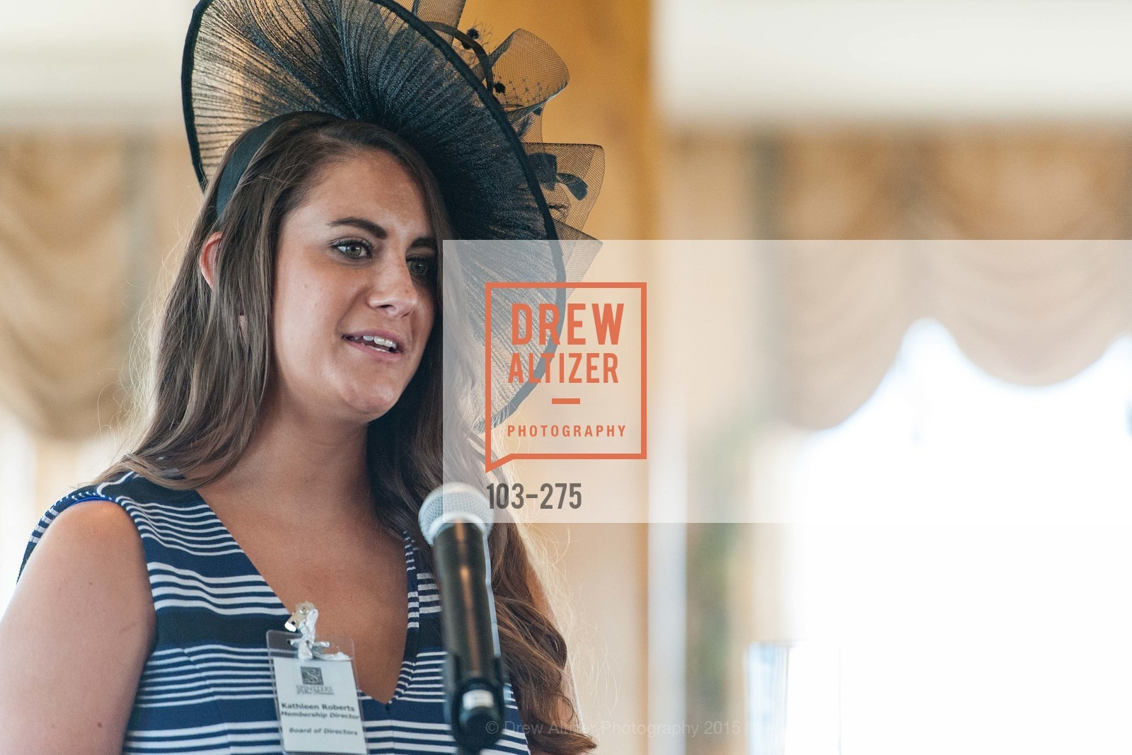 Kathleen Roberts, Spinsters of San Francisco New Member Tea 2015, The Fairmont Hotel, Crown Room. 950 Mason Street, August 30th, 2015,Drew Altizer, Drew Altizer Photography, full-service event agency, private events, San Francisco photographer, photographer California