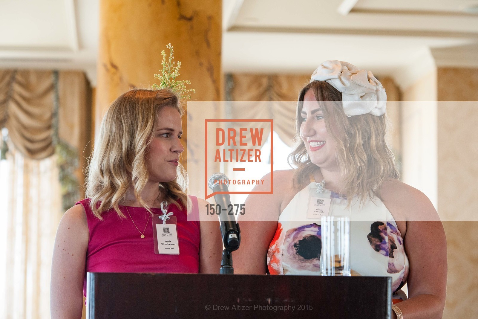 Beth Windheuser, Annie Benisch, Spinsters of San Francisco New Member Tea 2015, The Fairmont Hotel, Crown Room. 950 Mason Street, August 30th, 2015,Drew Altizer, Drew Altizer Photography, full-service agency, private events, San Francisco photographer, photographer california