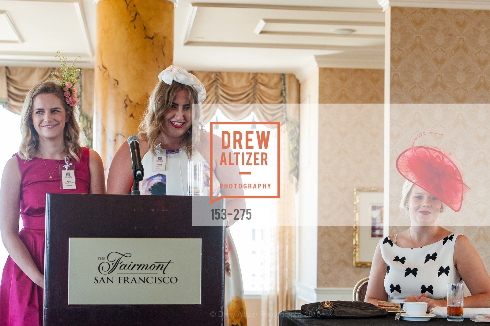 Beth Windheuser, Annie Benisch, Laura Davis, Spinsters of San Francisco New Member Tea 2015, The Fairmont Hotel, Crown Room. 950 Mason Street, August 30th, 2015,Drew Altizer, Drew Altizer Photography, full-service agency, private events, San Francisco photographer, photographer california