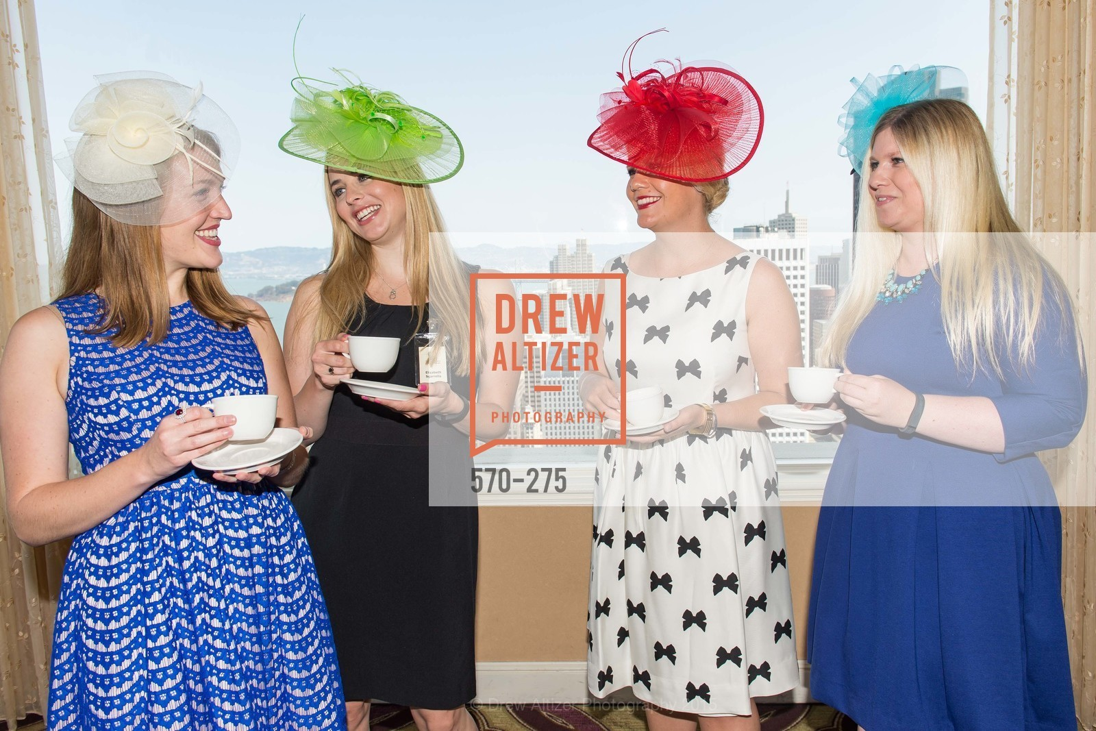 Julia Allyn, Elizabeth Sgarrella, Laura Davis, Summer Lynn McCormick, Spinsters of San Francisco New Member Tea 2015, The Fairmont Hotel, Crown Room. 950 Mason Street, August 30th, 2015,Drew Altizer, Drew Altizer Photography, full-service agency, private events, San Francisco photographer, photographer california