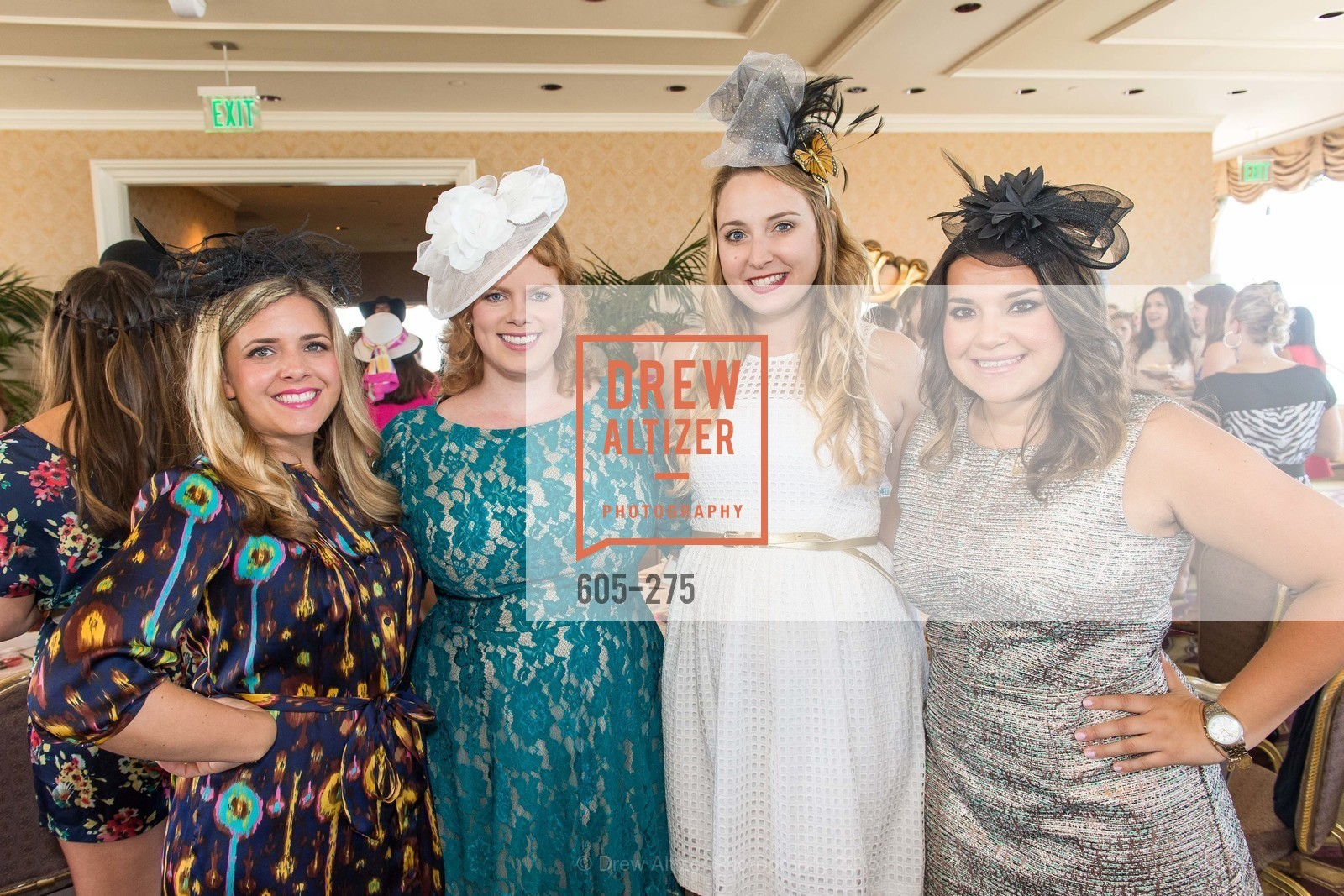 Melissa Stoller, Elizabeth Wilson, Victoria Whitehill, Andrea Valencia, Spinsters of San Francisco New Member Tea 2015, The Fairmont Hotel, Crown Room. 950 Mason Street, August 30th, 2015,Drew Altizer, Drew Altizer Photography, full-service agency, private events, San Francisco photographer, photographer california