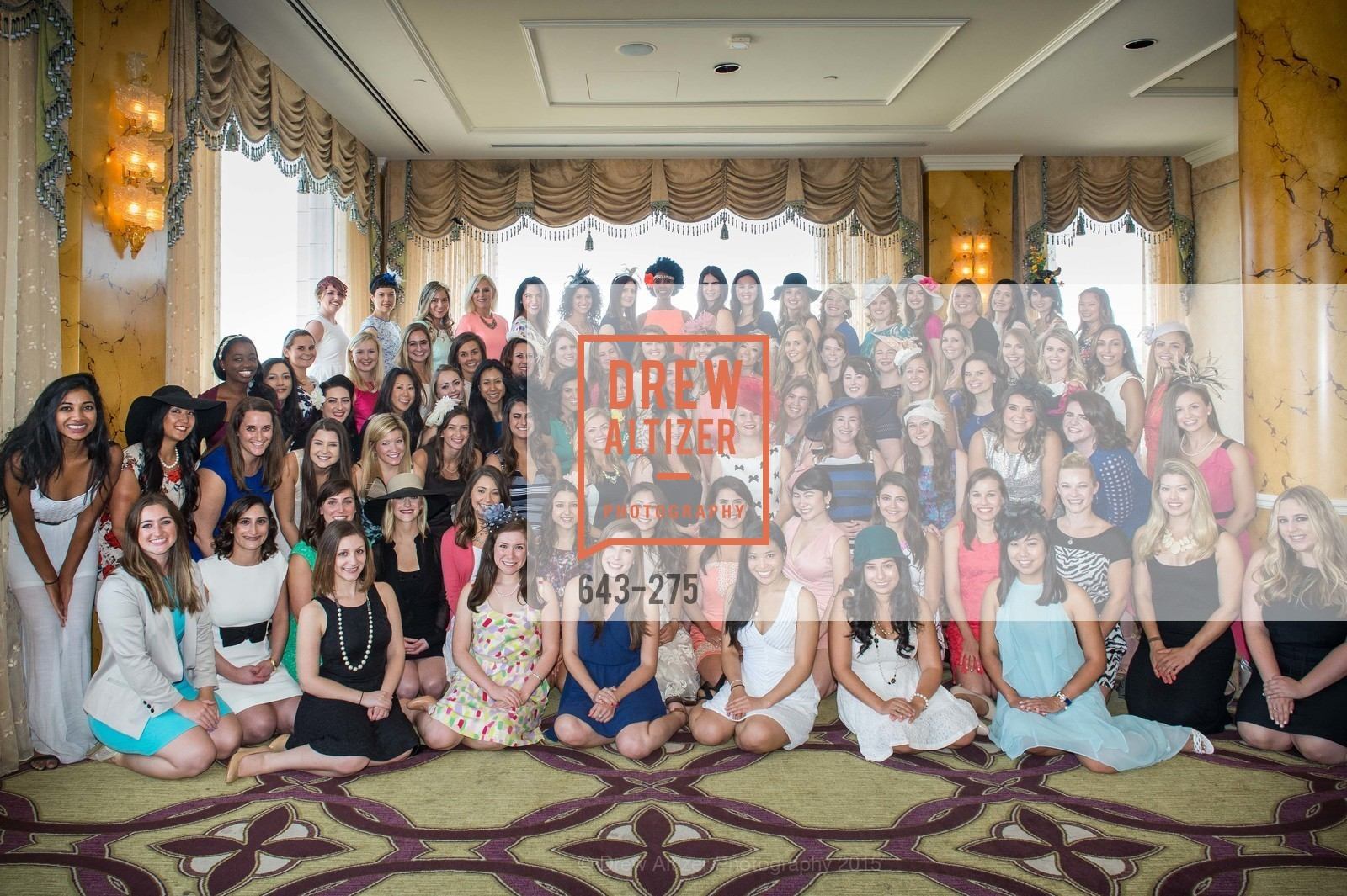 Group Picture, Spinsters of San Francisco New Member Tea 2015, The Fairmont Hotel, Crown Room. 950 Mason Street, August 30th, 2015,Drew Altizer, Drew Altizer Photography, full-service event agency, private events, San Francisco photographer, photographer California