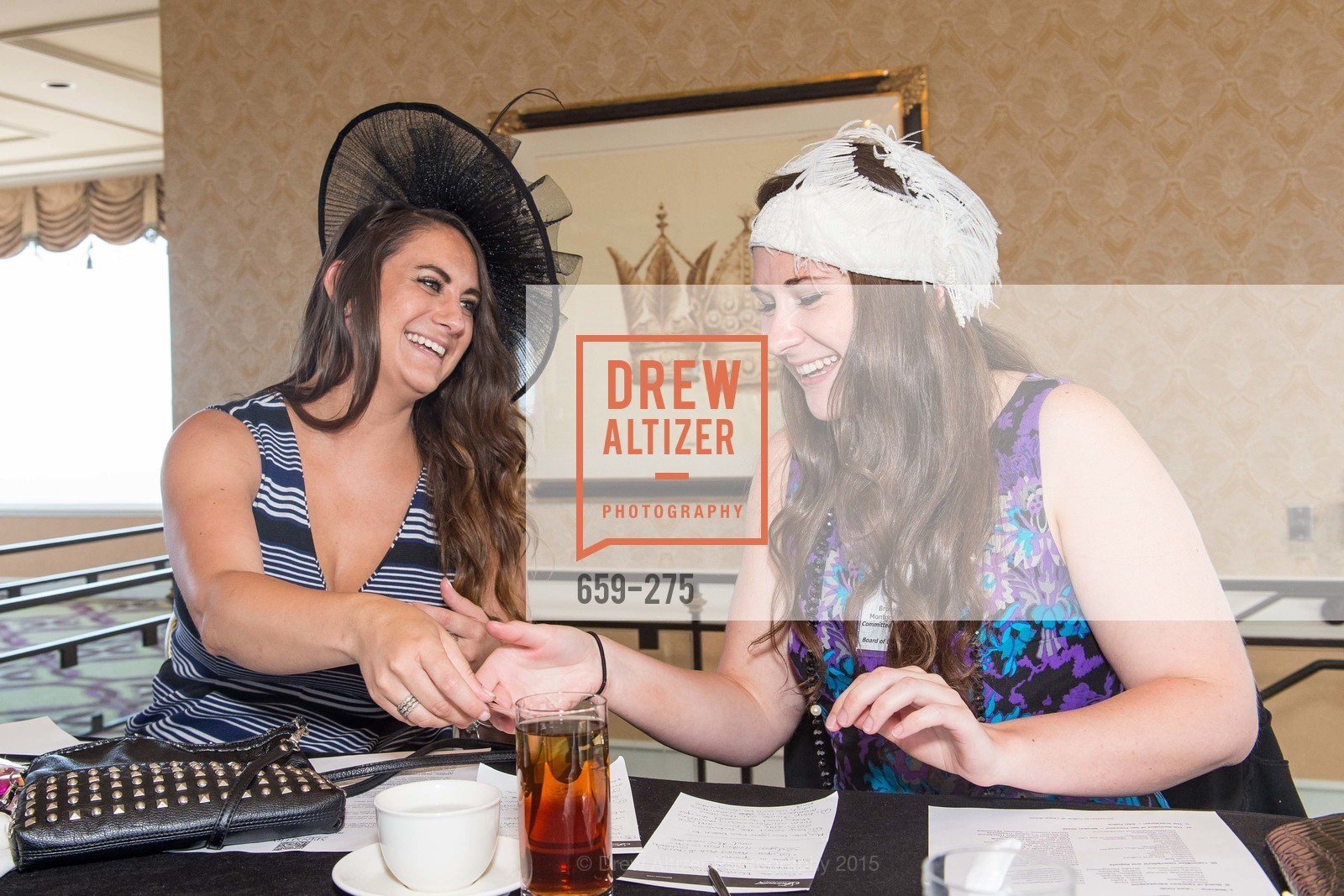 Kathleen Roberts, Brooke Montgomery, Spinsters of San Francisco New Member Tea 2015, The Fairmont Hotel, Crown Room. 950 Mason Street, August 30th, 2015