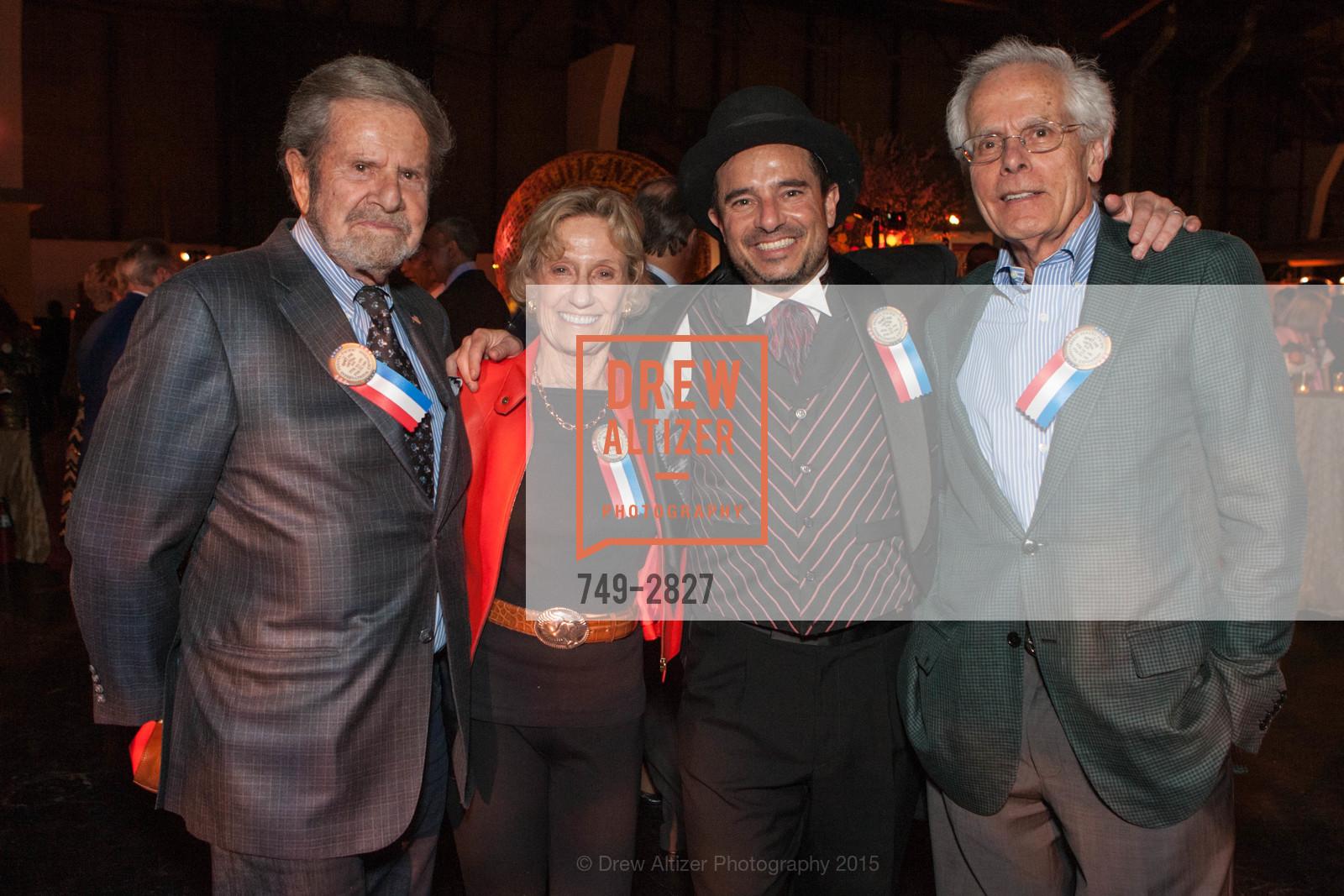 Tad Taube, Nancy Bechtle, Phil Ginsburg, Joachim Bechtle, Photo #749-2827