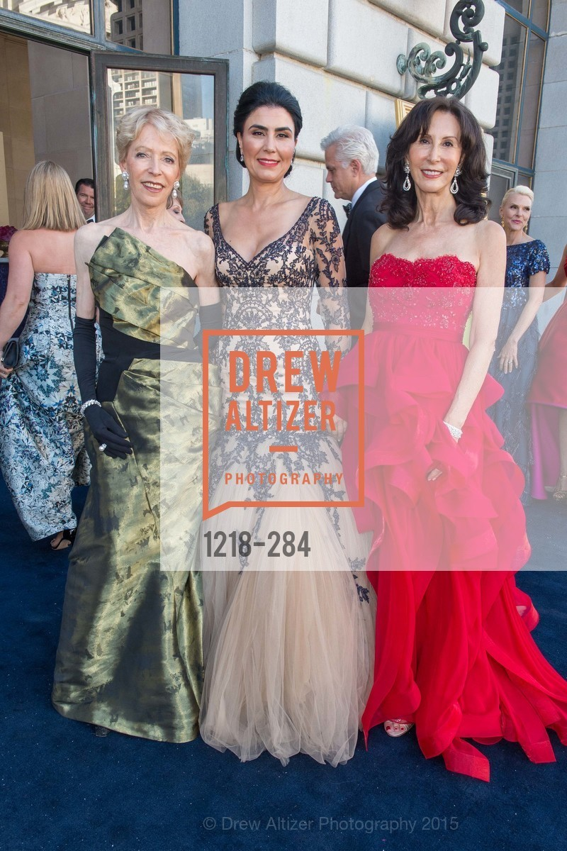 Barbara Brookins-schneider, Afsaneh Akhtari, Carolyn Chandler, Opera Ball 2015: Moonlight & Music, War Memorial Opera House. 301 Van Ness Ave, September 11th, 2015,Drew Altizer, Drew Altizer Photography, full-service agency, private events, San Francisco photographer, photographer california