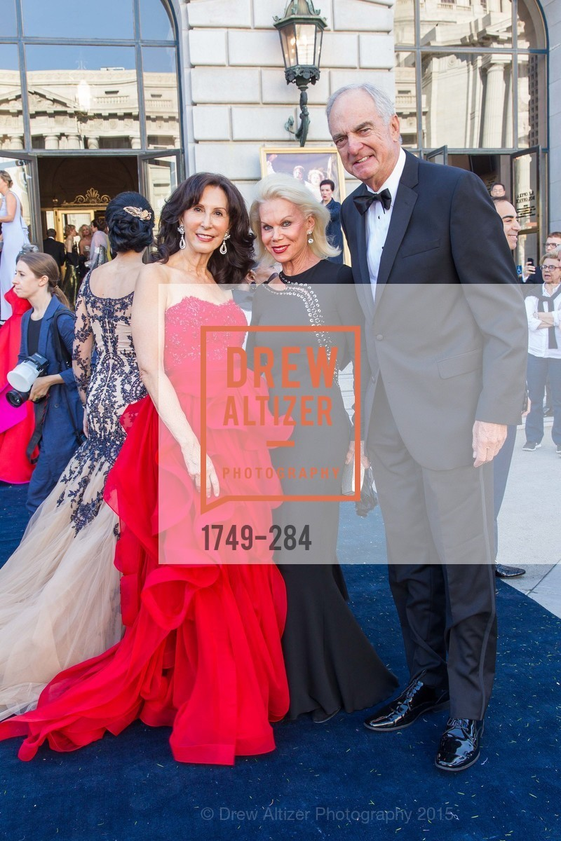 Carolyn Chandler, Sandra Farris, Mike Millstein, Opera Ball 2015: Moonlight & Music, War Memorial Opera House. 301 Van Ness Ave, September 11th, 2015,Drew Altizer, Drew Altizer Photography, full-service agency, private events, San Francisco photographer, photographer california