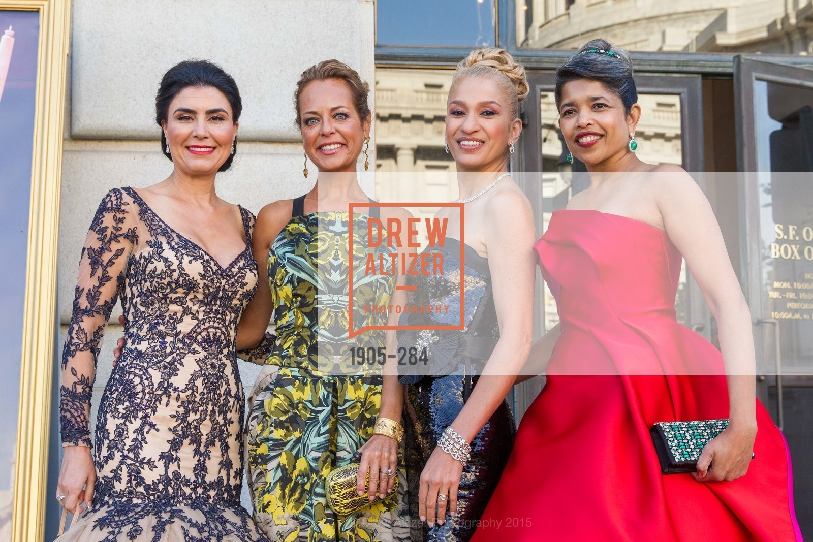 Afsaneh Akhtari, Charlot Malin, Navid Armstrong, Deepa Pakianathan, Opera Ball 2015: Moonlight & Music, War Memorial Opera House. 301 Van Ness Ave, September 11th, 2015,Drew Altizer, Drew Altizer Photography, full-service agency, private events, San Francisco photographer, photographer california