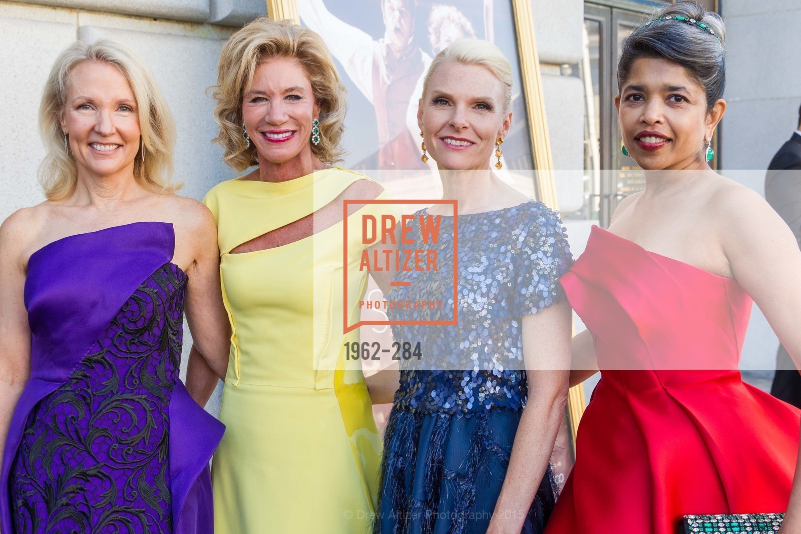 Ann Girard, Mary Poland, Linle Froeb, Deepa Pakianathan, Opera Ball 2015: Moonlight & Music, War Memorial Opera House. 301 Van Ness Ave, September 11th, 2015,Drew Altizer, Drew Altizer Photography, full-service agency, private events, San Francisco photographer, photographer california