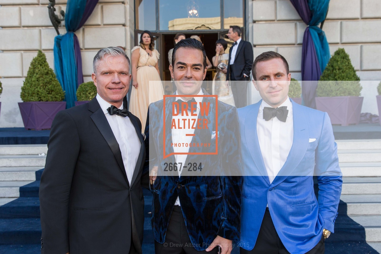Keith Wetmore, Greg Lopez, Andrew Hinek, Opera Ball 2015: Moonlight & Music, War Memorial Opera House. 301 Van Ness Ave, September 11th, 2015,Drew Altizer, Drew Altizer Photography, full-service event agency, private events, San Francisco photographer, photographer California