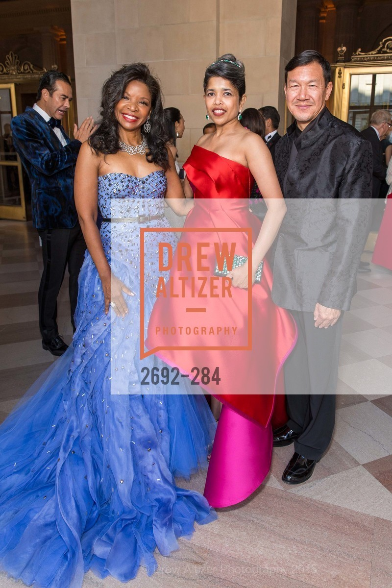 Pamela Joyner, Deepa Pakianathan, Tim Wu, Opera Ball 2015: Moonlight & Music, War Memorial Opera House. 301 Van Ness Ave, September 11th, 2015,Drew Altizer, Drew Altizer Photography, full-service agency, private events, San Francisco photographer, photographer california