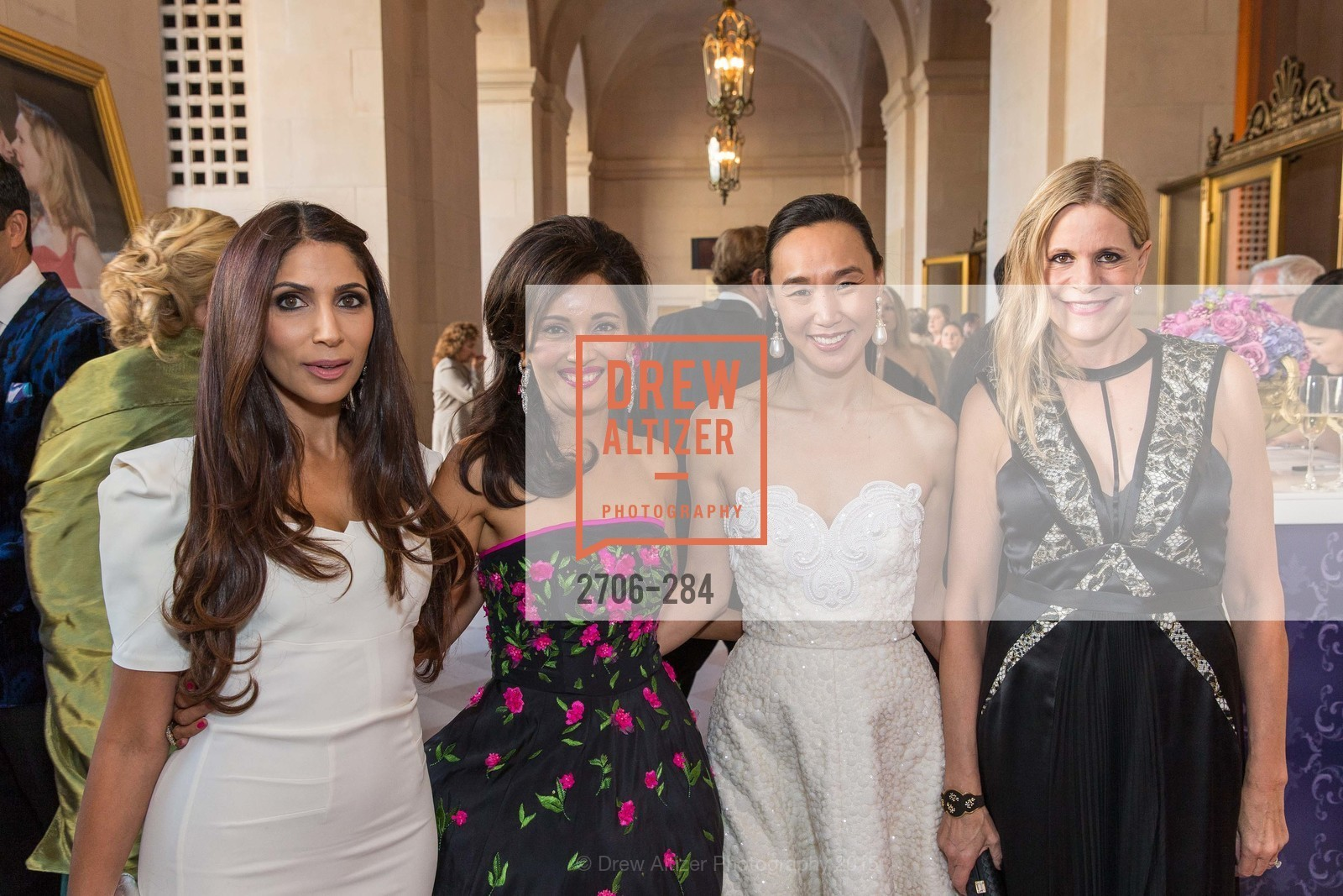 Sobia Shaikh, Komal Shah, Carolyn Chang, Mary Beth Shimmon, Opera Ball 2015: Moonlight & Music, War Memorial Opera House. 301 Van Ness Ave, September 11th, 2015,Drew Altizer, Drew Altizer Photography, full-service agency, private events, San Francisco photographer, photographer california