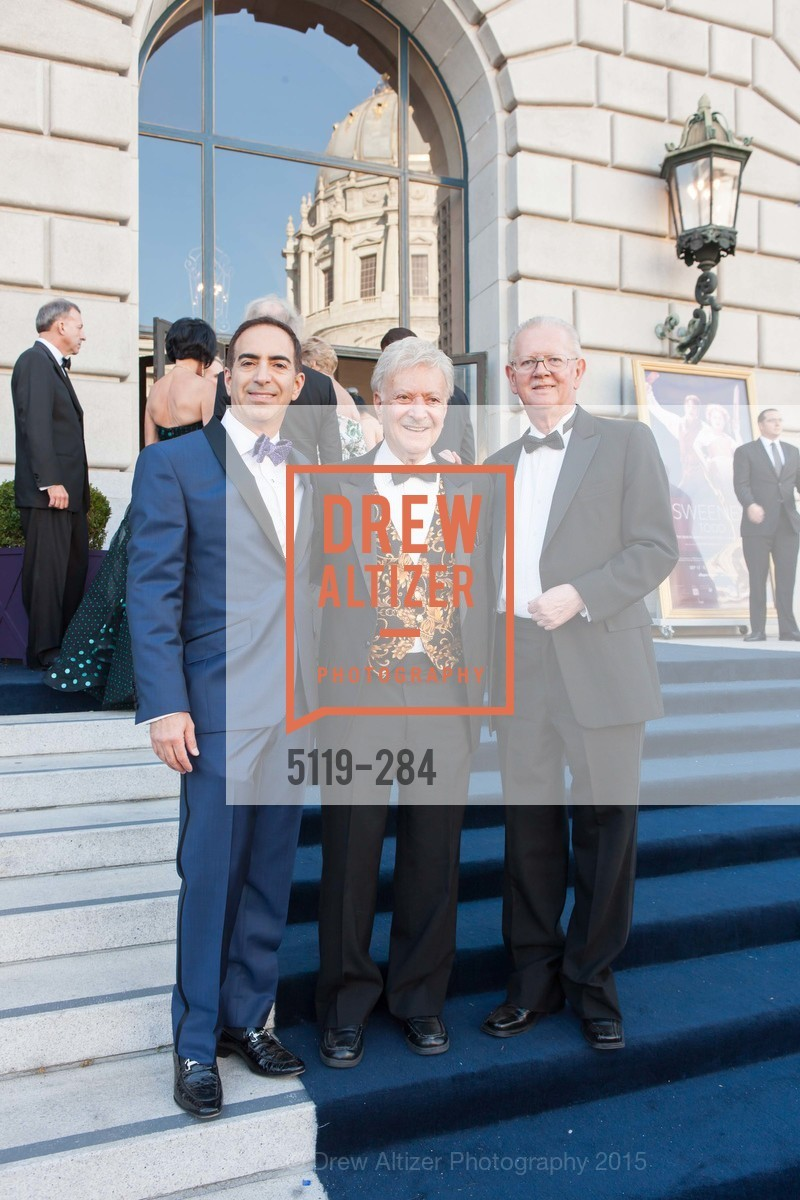 Elie Abijaude, Milton Mosk, Tom Foutch, Opera Ball 2015: Moonlight & Music, War Memorial Opera House. 301 Van Ness Ave, September 11th, 2015,Drew Altizer, Drew Altizer Photography, full-service agency, private events, San Francisco photographer, photographer california