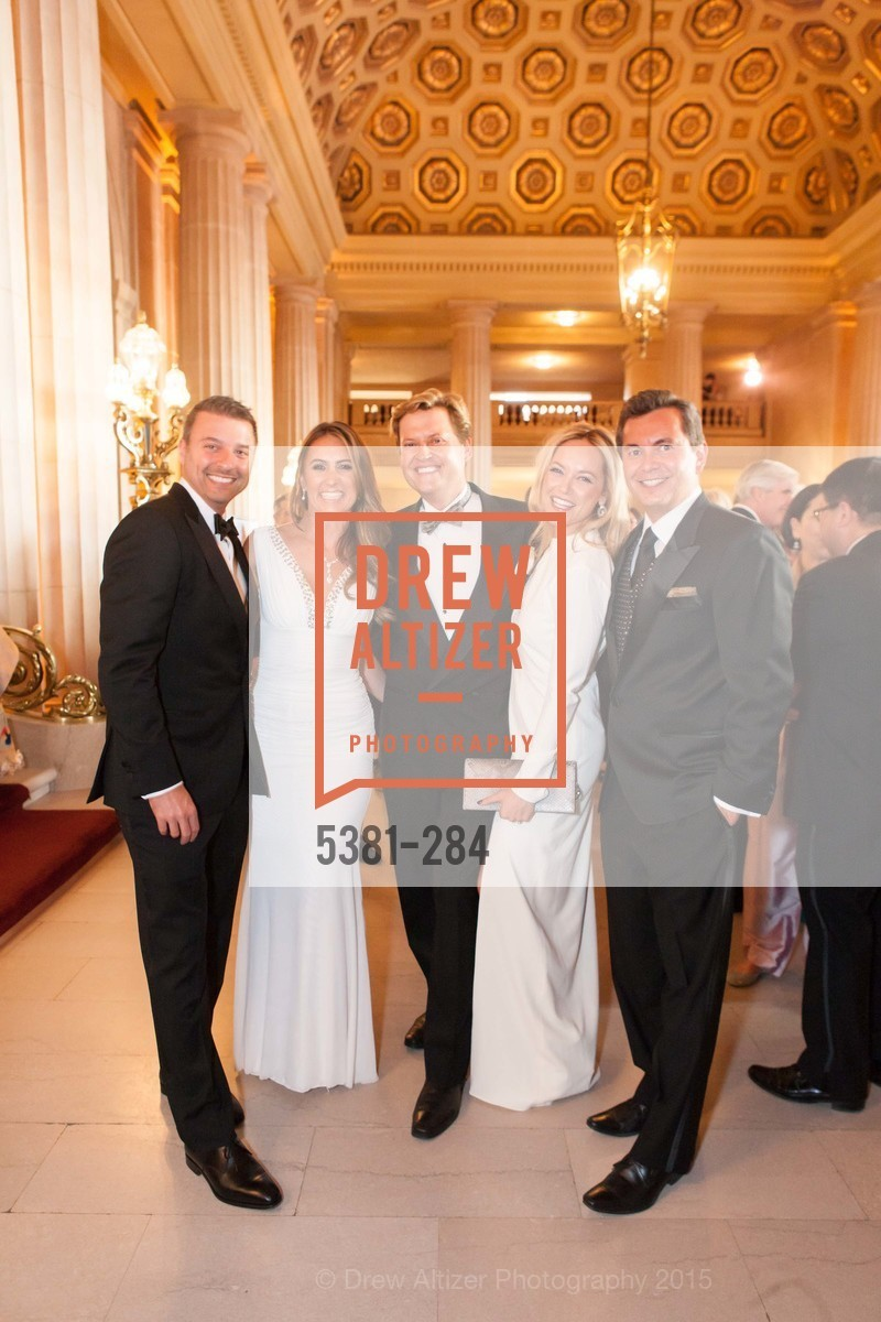 Brad Oberwager, Deanna DeCastanzo, Jonathan Tower, Lisa Oberwager, Michael Uytengsu, Opera Ball 2015: Moonlight & Music, War Memorial Opera House. 301 Van Ness Ave, September 11th, 2015,Drew Altizer, Drew Altizer Photography, full-service agency, private events, San Francisco photographer, photographer california