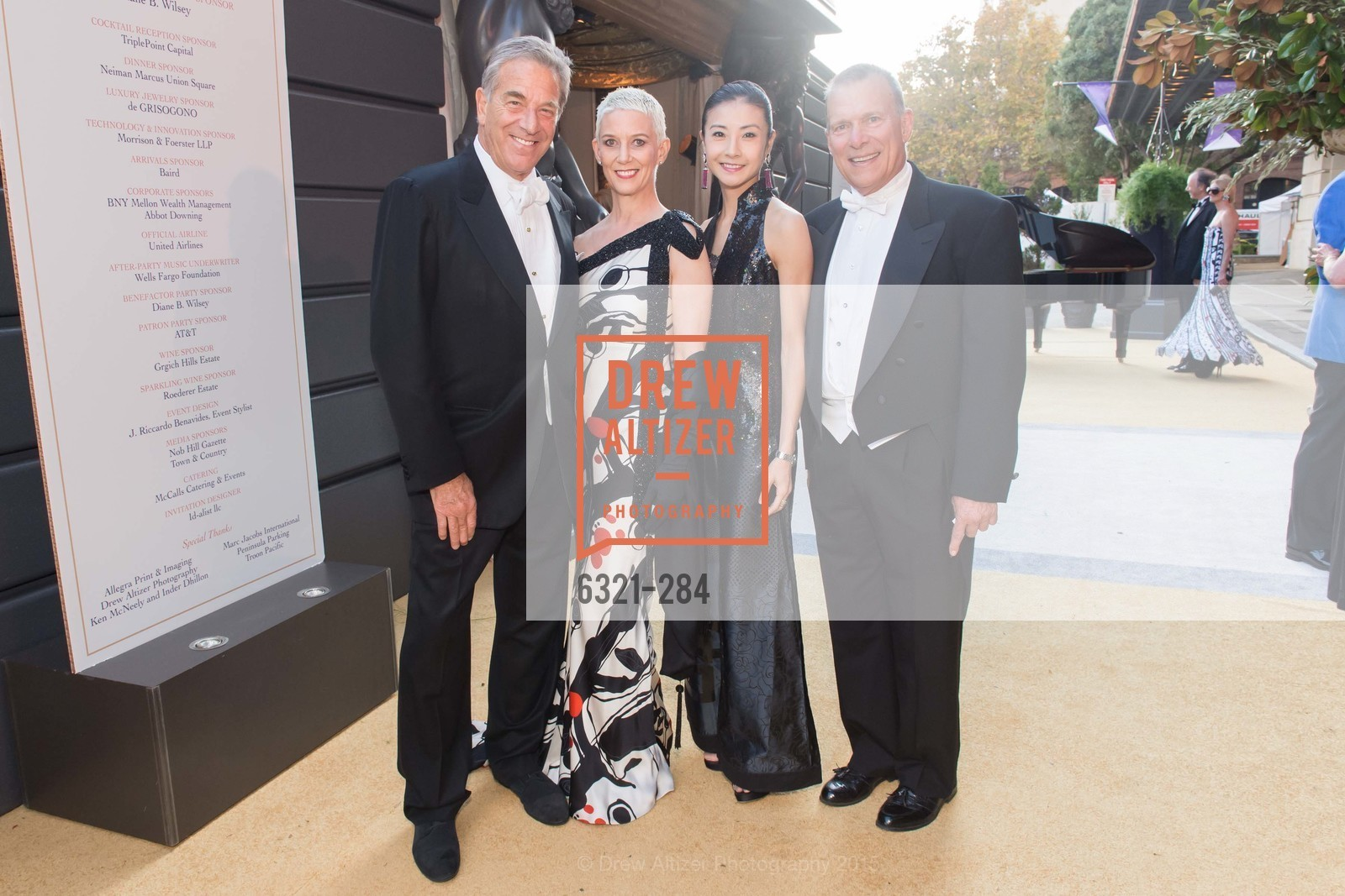 Paul Pelosi, Patricia Kelly, Yuan Yuan Tan, David Gockley, Opera Ball 2015: Moonlight & Music, War Memorial Opera House. 301 Van Ness Ave, September 11th, 2015,Drew Altizer, Drew Altizer Photography, full-service agency, private events, San Francisco photographer, photographer california