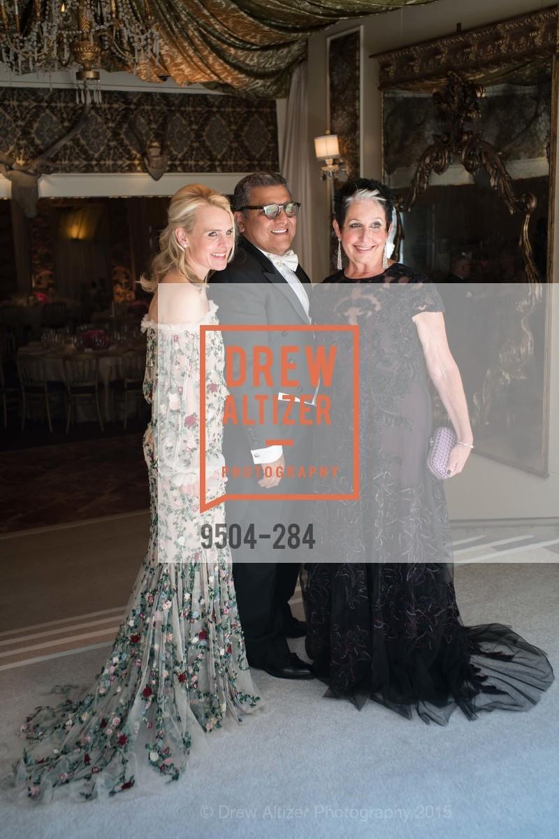 Jane Mudge, Riccardo Benavides, Karen Kubin, Opera Ball 2015: Moonlight & Music, War Memorial Opera House. 301 Van Ness Ave, September 11th, 2015