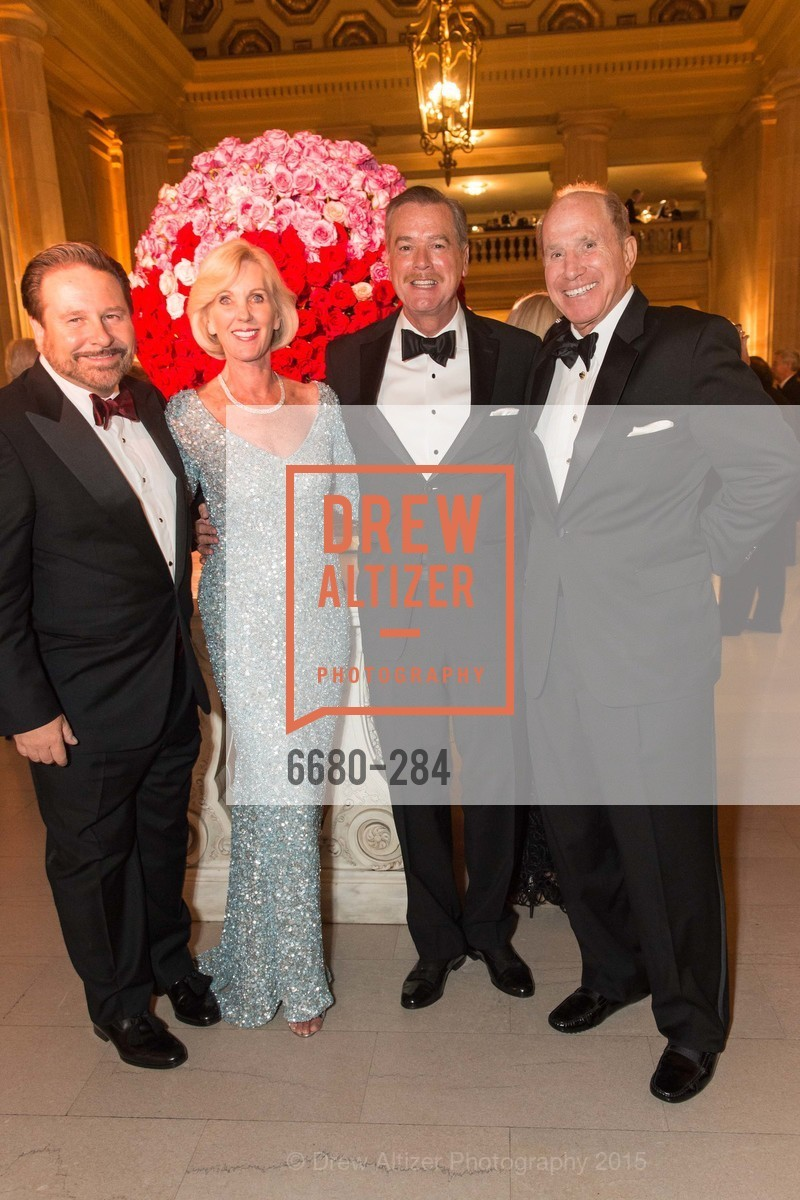 Martin Camsey, Patricia Sprincin, Randy Reynoso, Charles Sprincin, Opera Ball 2015: Moonlight & Music, War Memorial Opera House. 301 Van Ness Ave, September 11th, 2015,Drew Altizer, Drew Altizer Photography, full-service agency, private events, San Francisco photographer, photographer california