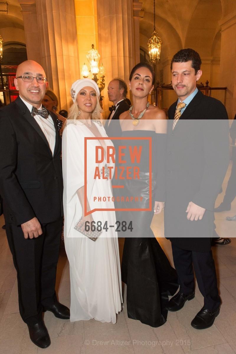 Alex Nazari, Simone Derayeh, Julia Zack, Kiral Zack, Opera Ball 2015: Moonlight & Music, War Memorial Opera House. 301 Van Ness Ave, September 11th, 2015
