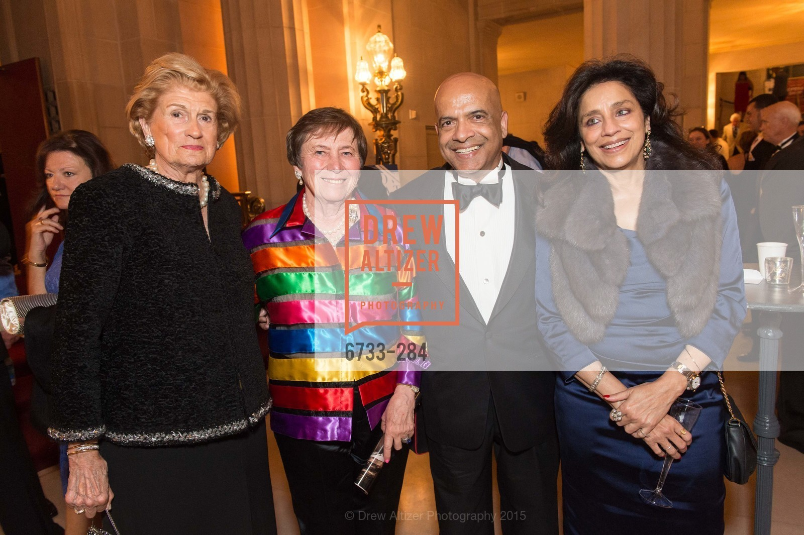 Marsha Forman, Sally Griffith, Raje Shindha, Vineti Mishra, Opera Ball 2015: Moonlight & Music, War Memorial Opera House. 301 Van Ness Ave, September 11th, 2015,Drew Altizer, Drew Altizer Photography, full-service agency, private events, San Francisco photographer, photographer california