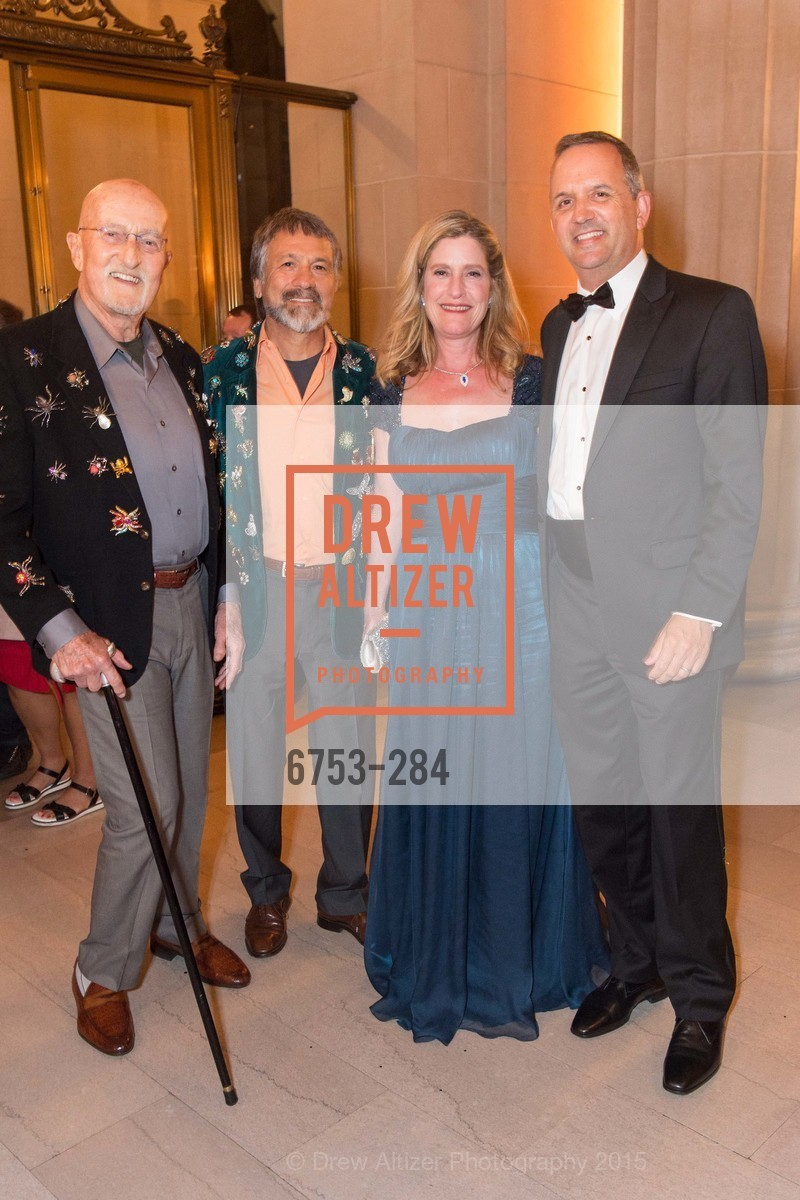Raja Hart, Felipe Rubio, Donna Digiuseppe, Rick Matcovich, Opera Ball 2015: Moonlight & Music, War Memorial Opera House. 301 Van Ness Ave, September 11th, 2015,Drew Altizer, Drew Altizer Photography, full-service agency, private events, San Francisco photographer, photographer california
