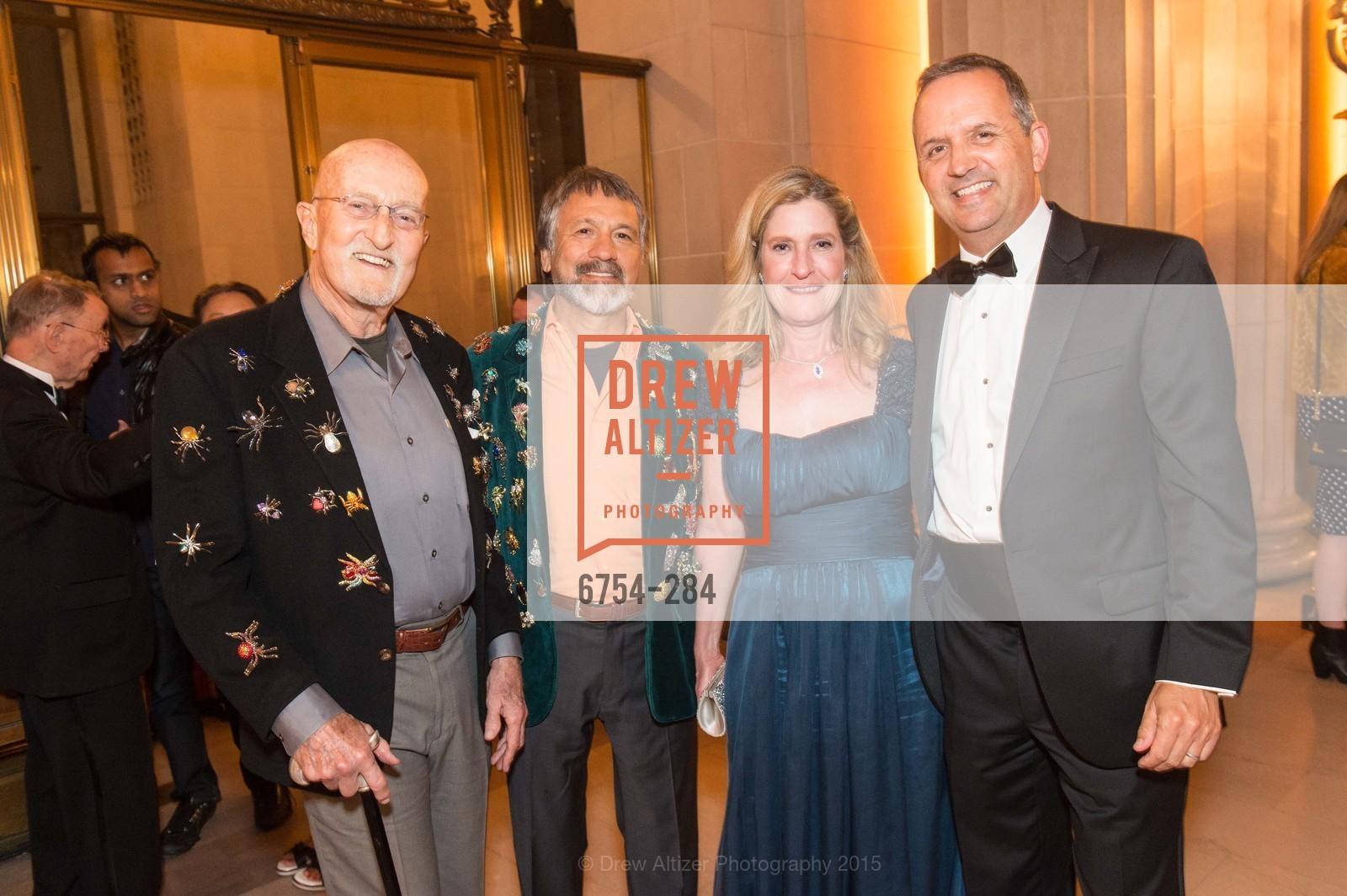 Raja Hart, Felipe Rubio, Donna Digiuseppe, Rick Matcovich, Opera Ball 2015: Moonlight & Music, War Memorial Opera House. 301 Van Ness Ave, September 11th, 2015