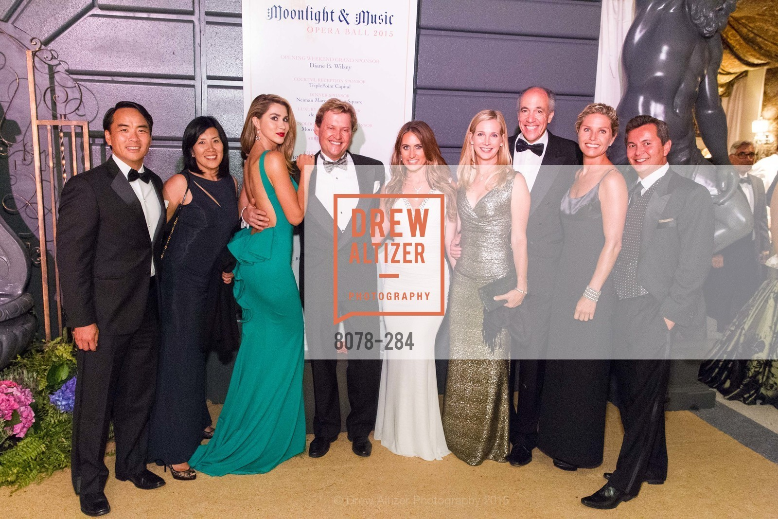 Victor Wong, Yiling Chen, Jonathan Tower, Courtney DeCastanzo, Courtney Labe, James Labe, Hillary McGonigle Michael Uytengsu, Opera Ball 2015: Moonlight & Music, War Memorial Opera House. 301 Van Ness Ave, September 11th, 2015,Drew Altizer, Drew Altizer Photography, full-service agency, private events, San Francisco photographer, photographer california