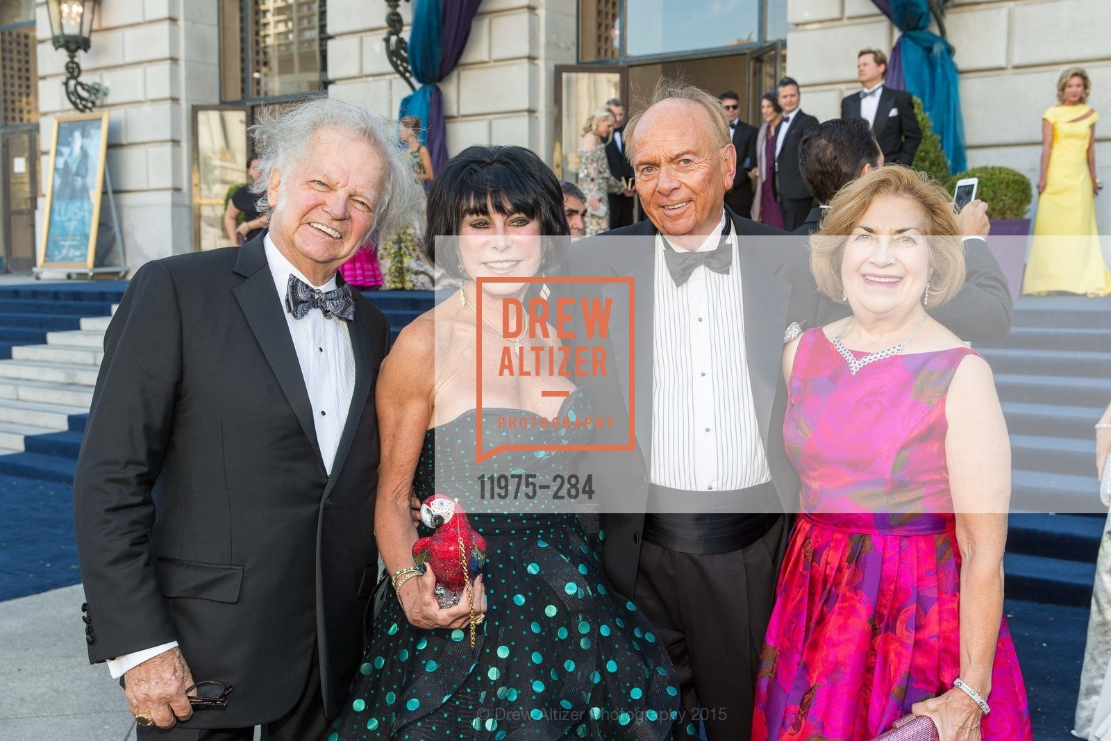 Michael Cabak, Marilyn Cabak, David Pace, Joan Silva, Opera Ball 2015: Moonlight & Music, War Memorial Opera House. 301 Van Ness Ave, September 11th, 2015,Drew Altizer, Drew Altizer Photography, full-service event agency, private events, San Francisco photographer, photographer California