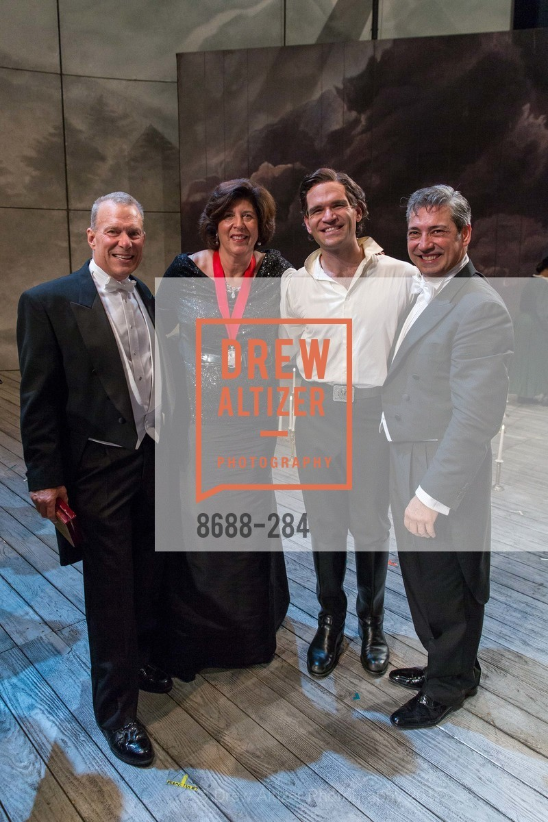 David Gockley, Francesca Zambello, Michael Fabiano, Nicola Luisotti, Opera Ball 2015: Moonlight & Music, War Memorial Opera House. 301 Van Ness Ave, September 11th, 2015