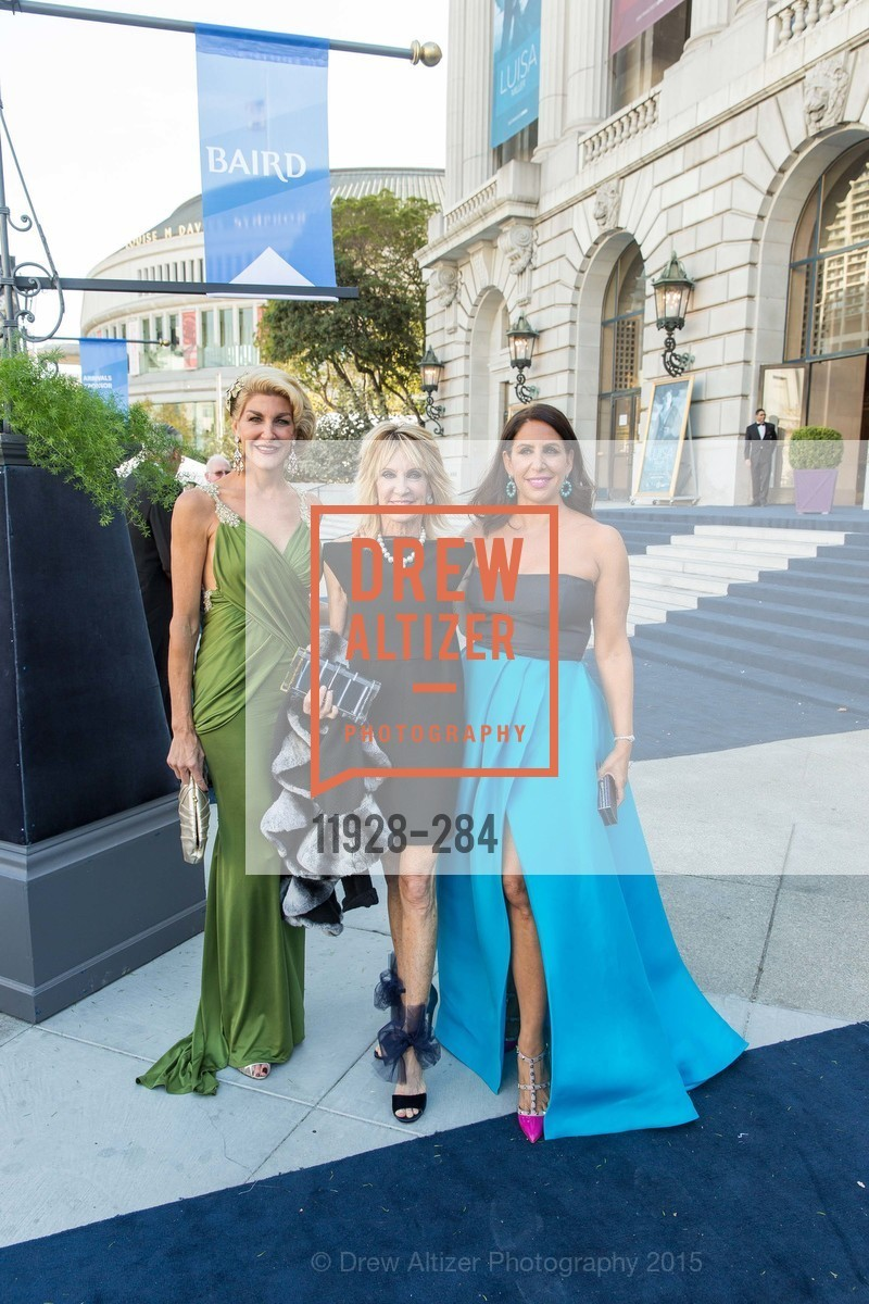 Karen Caldwell, Sandy Mandel, Lisa Grotts, Opera Ball 2015: Moonlight & Music, War Memorial Opera House. 301 Van Ness Ave, September 11th, 2015,Drew Altizer, Drew Altizer Photography, full-service agency, private events, San Francisco photographer, photographer california