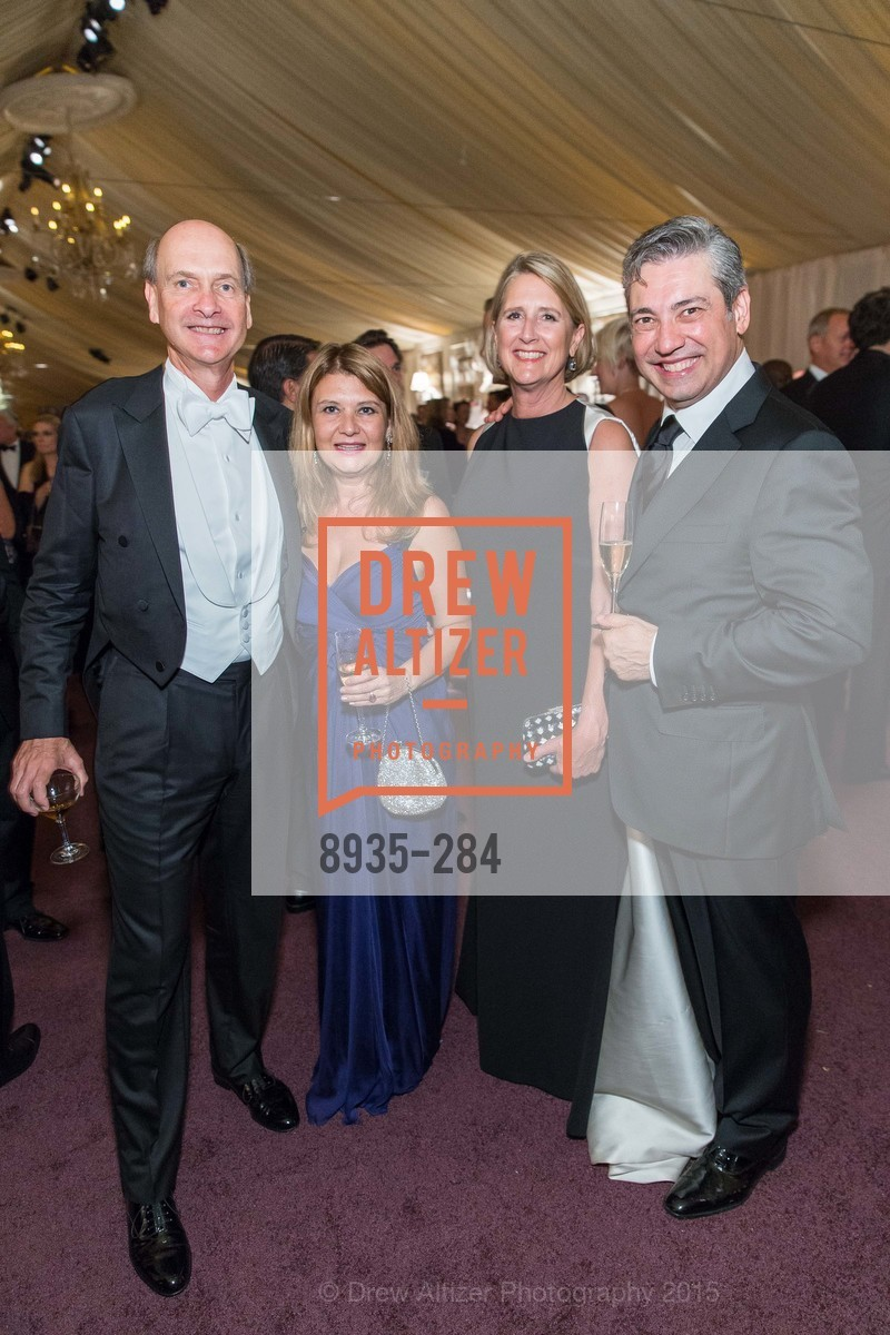 Keith Geeslin, Rita Simonini, Priscilla Geeslin, Nicola Luisotti, Opera Ball 2015: Moonlight & Music, War Memorial Opera House. 301 Van Ness Ave, September 11th, 2015,Drew Altizer, Drew Altizer Photography, full-service agency, private events, San Francisco photographer, photographer california