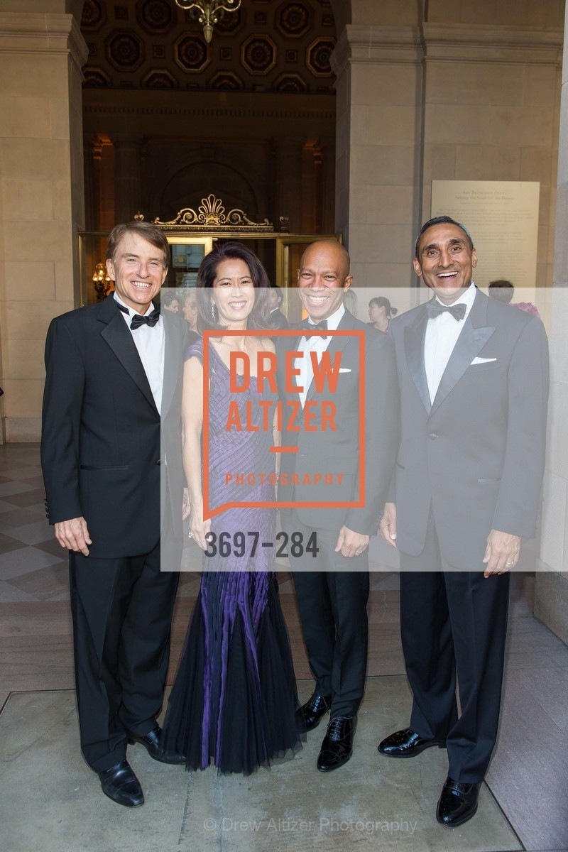 Steve Westly, Anita Westly, Ken McNeely, Inder Dhillon, Opera Ball 2015: Moonlight & Music, War Memorial Opera House. 301 Van Ness Ave, September 11th, 2015,Drew Altizer, Drew Altizer Photography, full-service agency, private events, San Francisco photographer, photographer california
