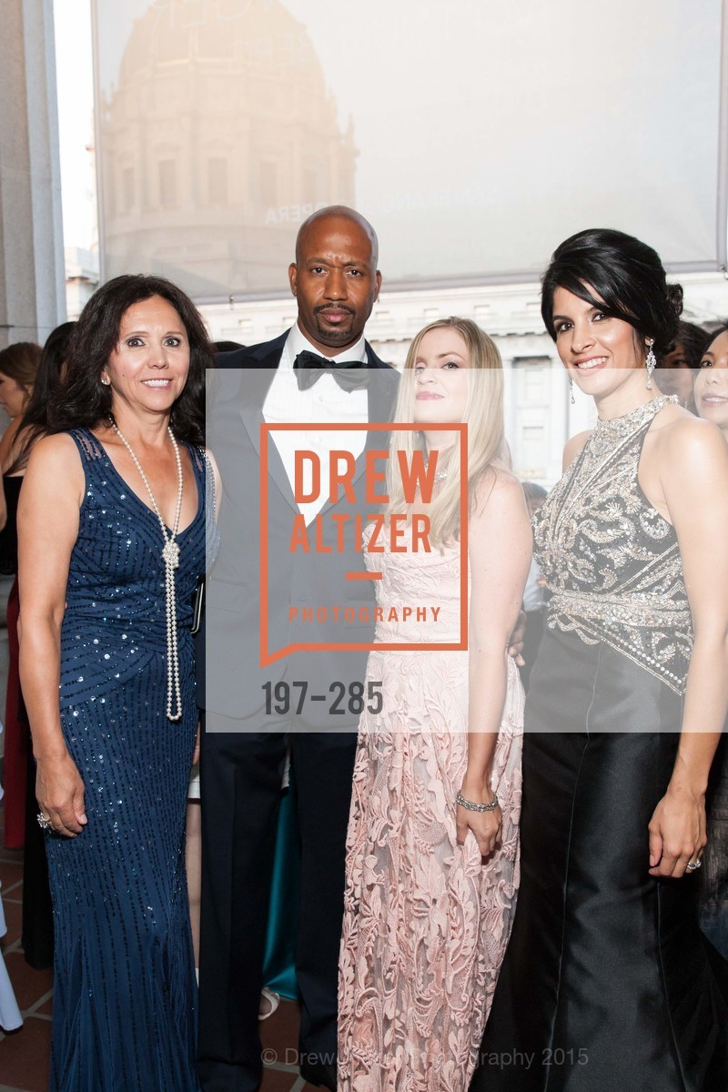 Barbara Cartier, Jimi Harris, Julie Hall, Veronica Rivas-Tramontozzi, San Francisco Opera's BRAVO! CLUB Opening Night Gala, War Memorial Opera House. 301 Van Ness Ave, September 11th, 2015,Drew Altizer, Drew Altizer Photography, full-service agency, private events, San Francisco photographer, photographer california