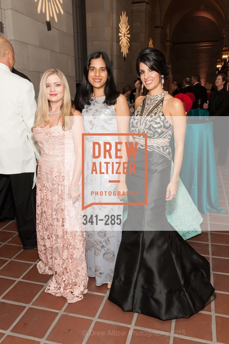 Julie Hall, Nayana Ghantiwala, Veronica Rivas-Tramontozzi, San Francisco Opera's BRAVO! CLUB Opening Night Gala, War Memorial Opera House. 301 Van Ness Ave, September 11th, 2015,Drew Altizer, Drew Altizer Photography, full-service agency, private events, San Francisco photographer, photographer california