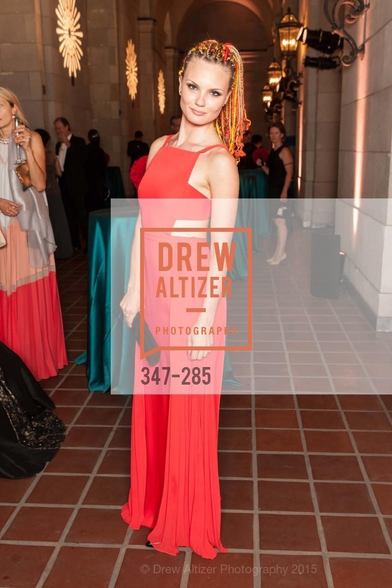 Katrina Ponina, San Francisco Opera's BRAVO! CLUB Opening Night Gala, War Memorial Opera House. 301 Van Ness Ave, September 11th, 2015