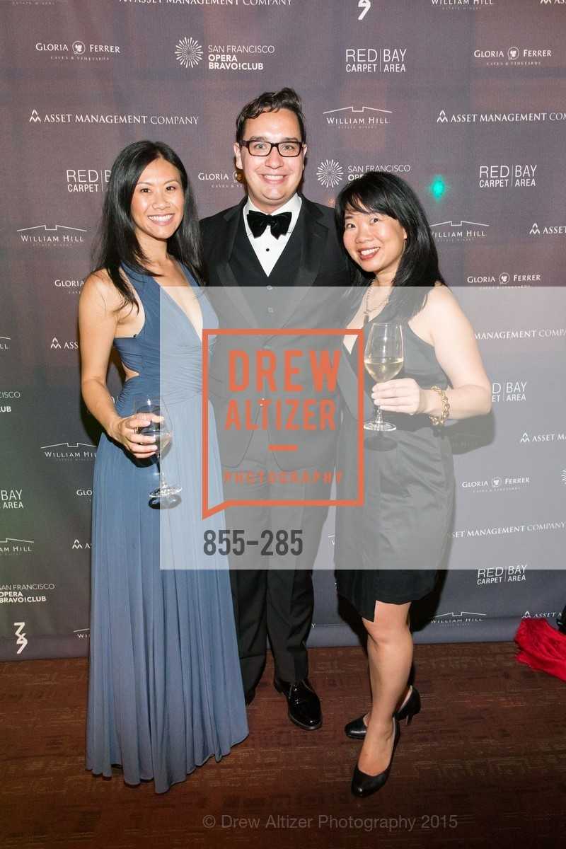 Christine Lee, Christopher Wiseman, Jennifer Wong, San Francisco Opera's BRAVO! CLUB Opening Night Gala, War Memorial Opera House. 301 Van Ness Ave, September 11th, 2015,Drew Altizer, Drew Altizer Photography, full-service agency, private events, San Francisco photographer, photographer california