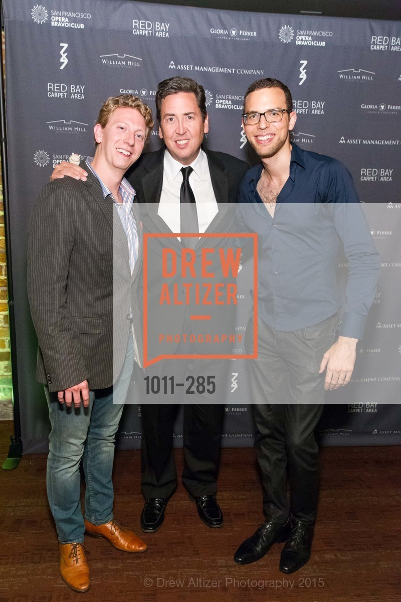 Dan Cameron, John Churchwell, Ronnie Michael Greenberg, San Francisco Opera's BRAVO! CLUB Opening Night Gala, War Memorial Opera House. 301 Van Ness Ave, September 11th, 2015,Drew Altizer, Drew Altizer Photography, full-service agency, private events, San Francisco photographer, photographer california