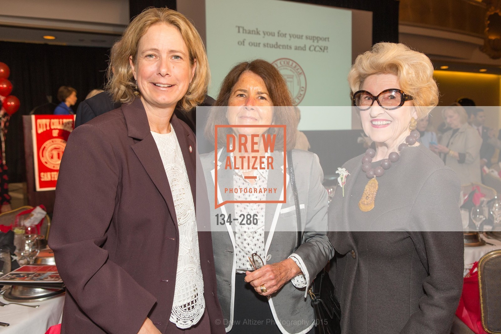 Susan Lamb, Mary Bitterman, Genelle Relfe, CCSF Basic Skills Luncheon, Fairmont Hotel, Grand Ballroom, September 15th, 2015,Drew Altizer, Drew Altizer Photography, full-service agency, private events, San Francisco photographer, photographer california