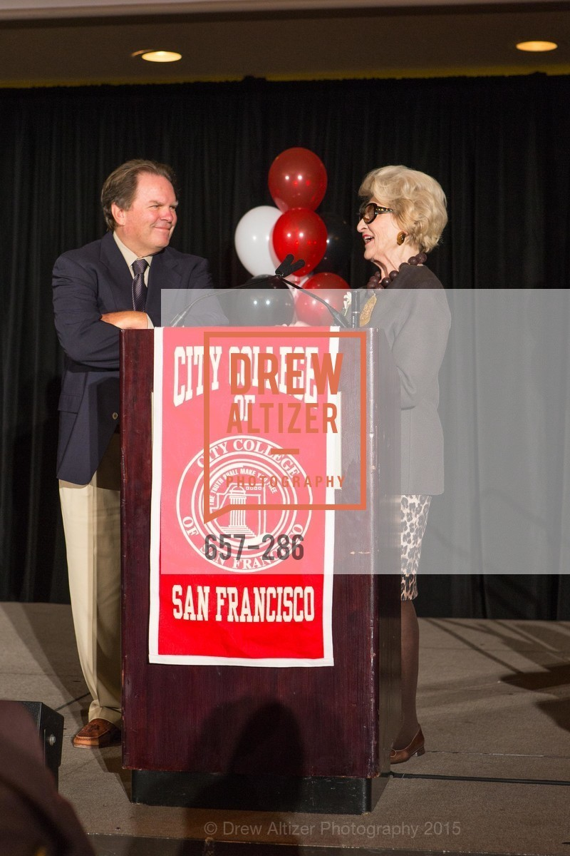 George Rush, Genelle Relfe, CCSF Basic Skills Luncheon, Fairmont Hotel, Grand Ballroom, September 15th, 2015,Drew Altizer, Drew Altizer Photography, full-service agency, private events, San Francisco photographer, photographer california