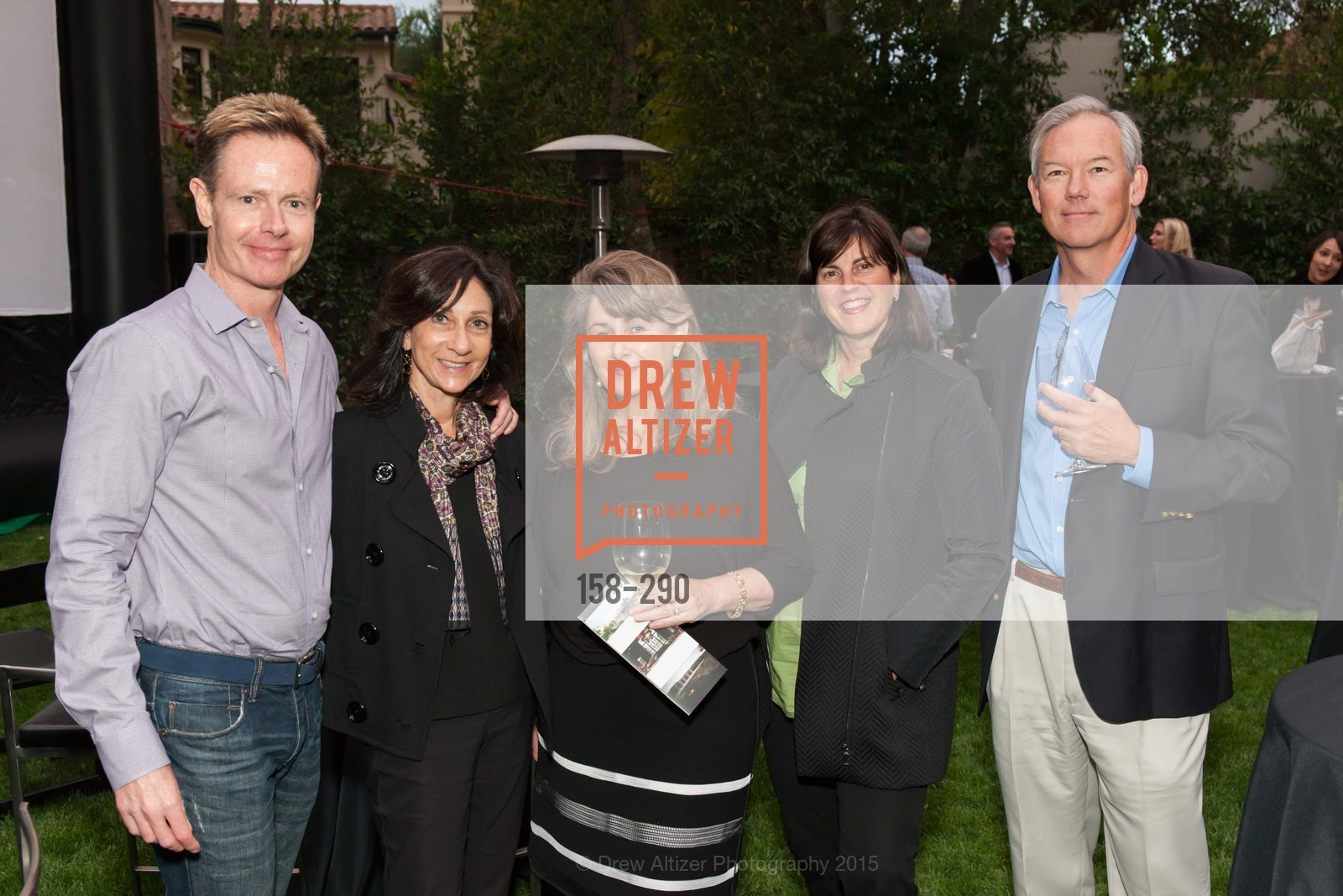 Brad Henning, Laurie Kraus Lacob, Marian Robertson, Steve Robertson, Napa Valley Film Festival: Silicon Valley First Look, Private home. 1030 Hamilton Ave, September 16th, 2015,Drew Altizer, Drew Altizer Photography, full-service agency, private events, San Francisco photographer, photographer california