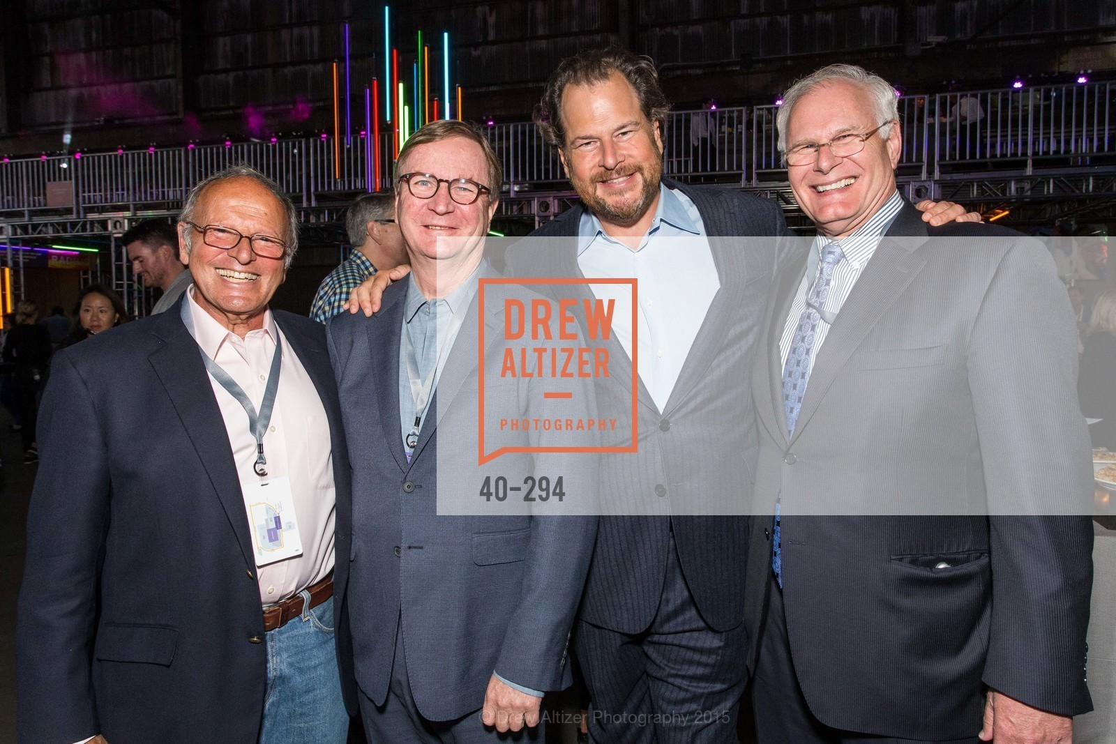 Burt Lubin, Sam Hawgood, Marc Benioff, Mark Laret, The Concert For UCSF Benioff Children's Hospital, Pier 70, September 17th, 2015,Drew Altizer, Drew Altizer Photography, full-service agency, private events, San Francisco photographer, photographer california