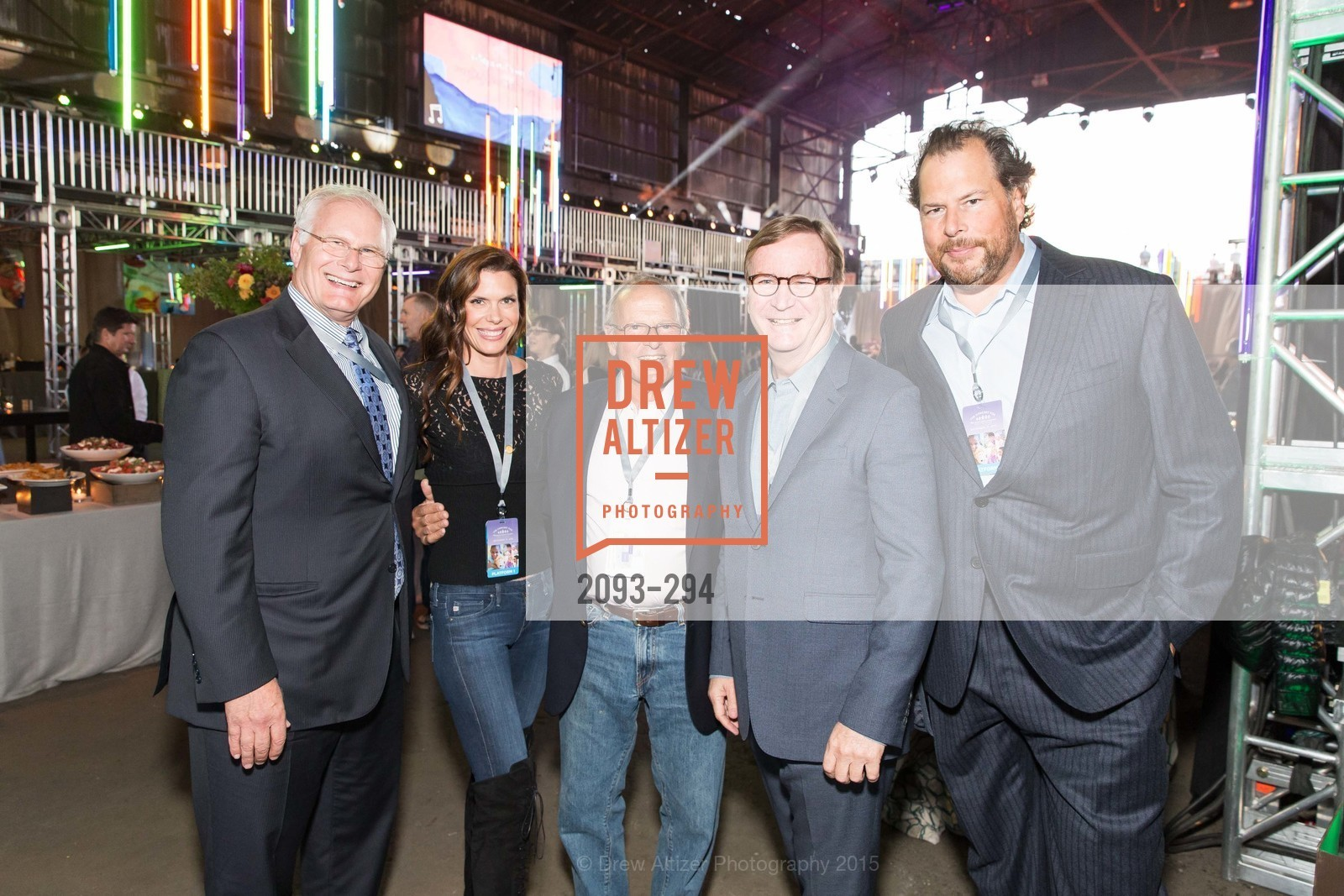 Mark Laret, Lynne Benioff, Burt Lubin, Sam Hawgood, Marc Benioff, The Concert For UCSF Benioff Children's Hospital, Pier 70, September 17th, 2015,Drew Altizer, Drew Altizer Photography, full-service agency, private events, San Francisco photographer, photographer california