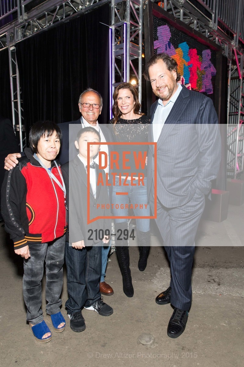 Grace Chan, Zhenkang Zhao, Burt Lubin, Lynne Benioff, Marc Benioff, The Concert For UCSF Benioff Children's Hospital, Pier 70, September 17th, 2015