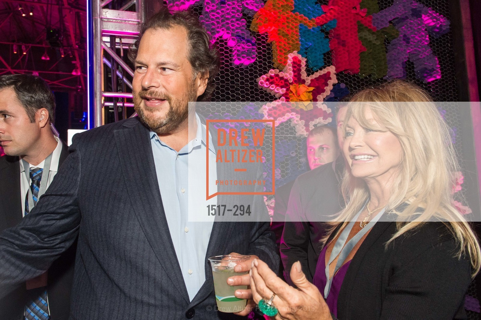 Marc Benioff, Goldie Hawn, The Concert For UCSF Benioff Children's Hospital, Pier 70, September 17th, 2015,Drew Altizer, Drew Altizer Photography, full-service agency, private events, San Francisco photographer, photographer california