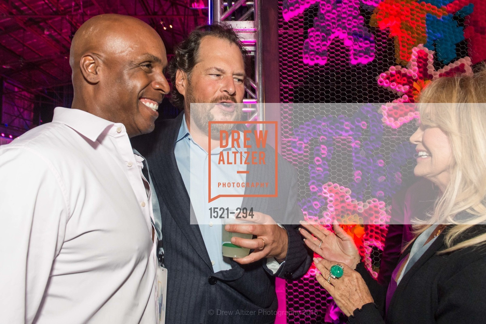 Barry Bond, Marc Benioff, Goldie Hawn, The Concert For UCSF Benioff Children's Hospital, Pier 70, September 17th, 2015,Drew Altizer, Drew Altizer Photography, full-service event agency, private events, San Francisco photographer, photographer California
