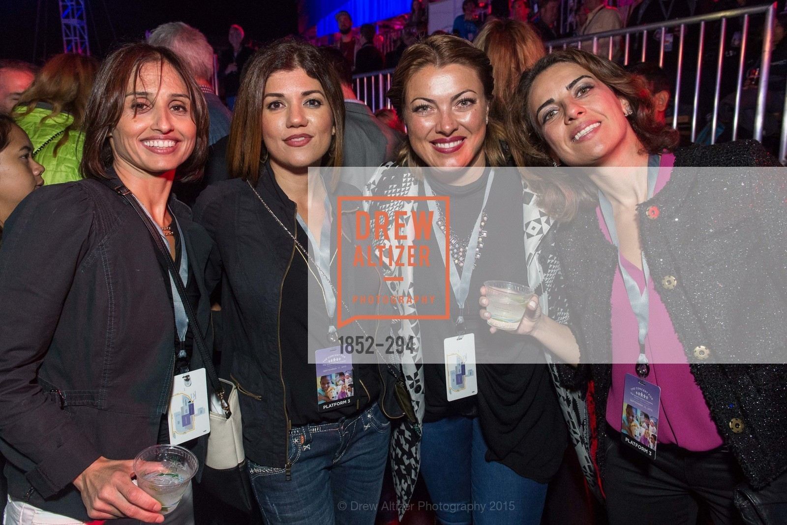 Myra Arghandiwal, Shab Farzaneh, Claudia Karkia, Leila Azad, The Concert For UCSF Benioff Children's Hospital, Pier 70, September 17th, 2015,Drew Altizer, Drew Altizer Photography, full-service agency, private events, San Francisco photographer, photographer california