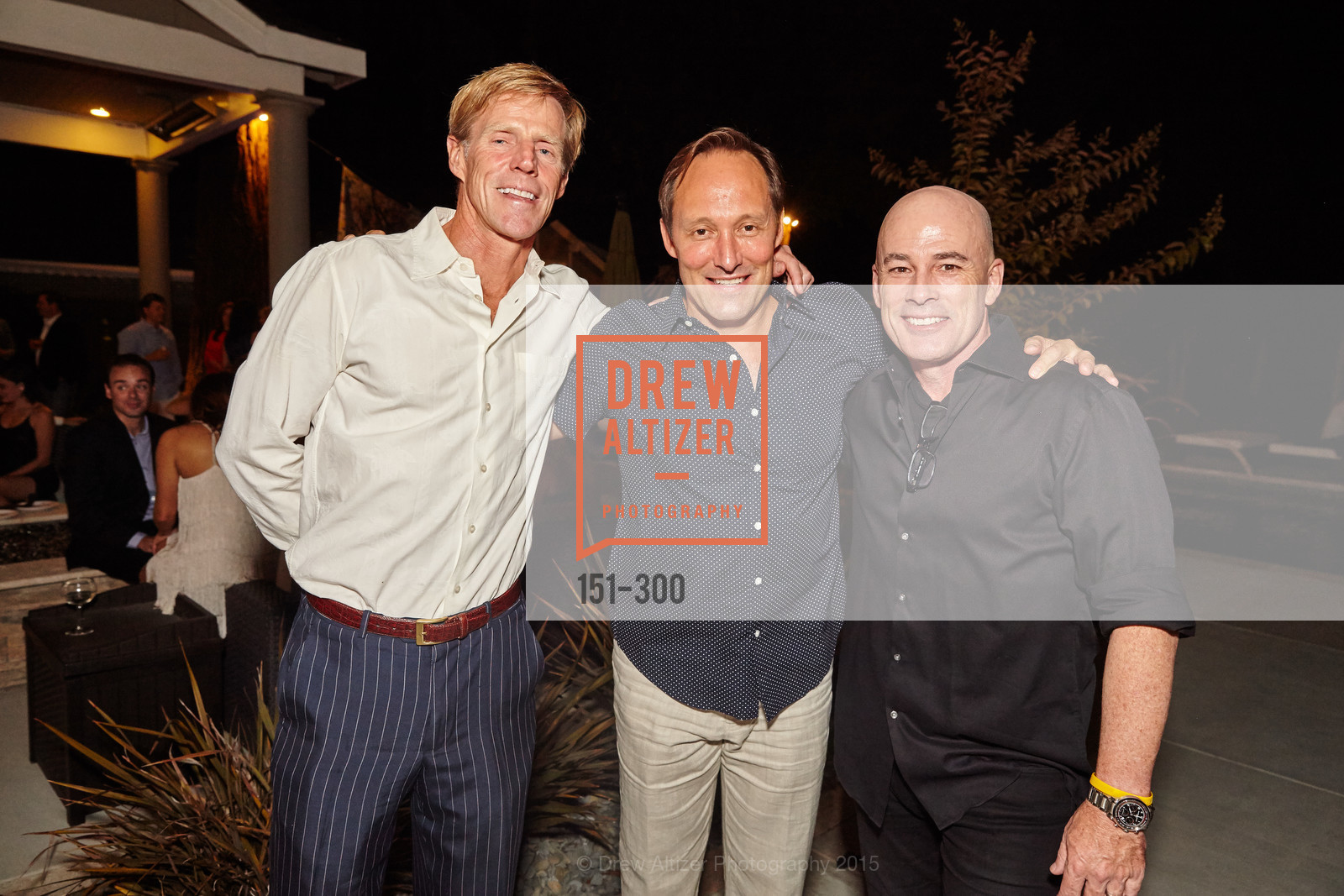 Larry Lanhert, Doug Merritt, John Kelly, Breast Cancer Awareness Fund Presents This Old Bag Silicon Valley Preview Party, Private Residence, September 19th, 2015,Drew Altizer, Drew Altizer Photography, full-service agency, private events, San Francisco photographer, photographer california