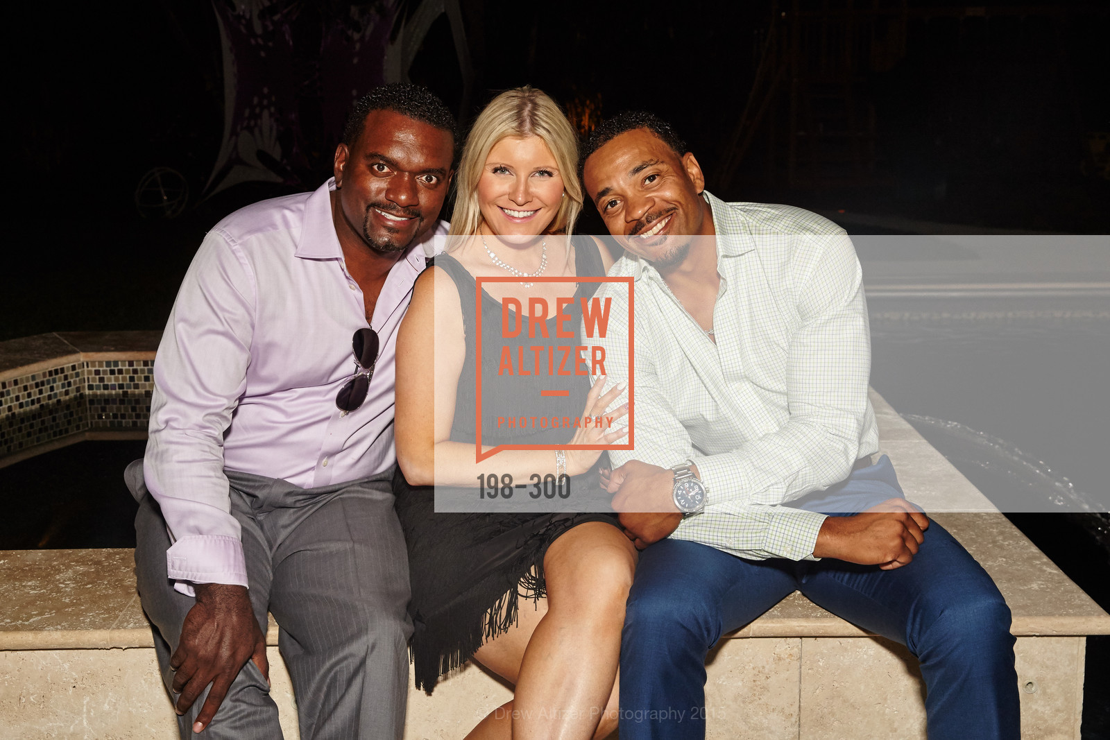 Clarence Wooten, Amber Potter, Clarence Russell, Breast Cancer Awareness Fund Presents This Old Bag Silicon Valley Preview Party, Private Residence, September 19th, 2015,Drew Altizer, Drew Altizer Photography, full-service event agency, private events, San Francisco photographer, photographer California