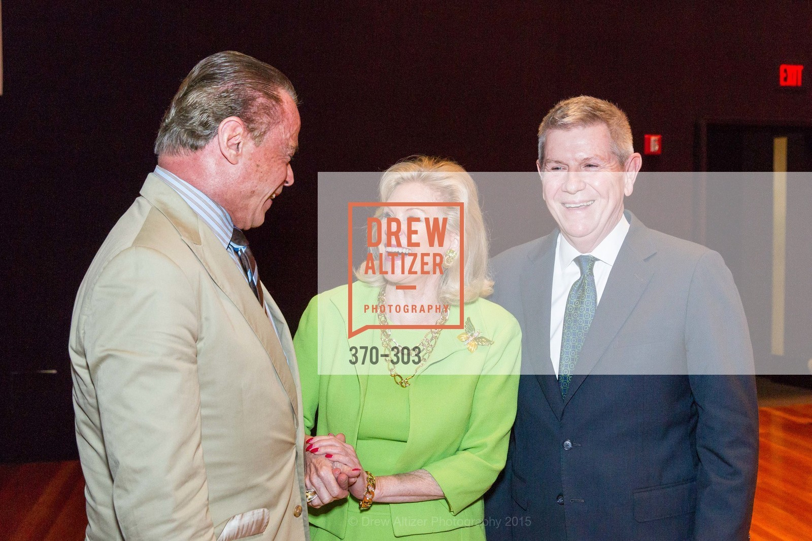 Boaz Mazor, Dede Wilsey, Richard Benefield, Fine Arts Museums Annual Donors' Luncheon, de Young Museum. 3010 24th St, September 21st, 2015,Drew Altizer, Drew Altizer Photography, full-service event agency, private events, San Francisco photographer, photographer California