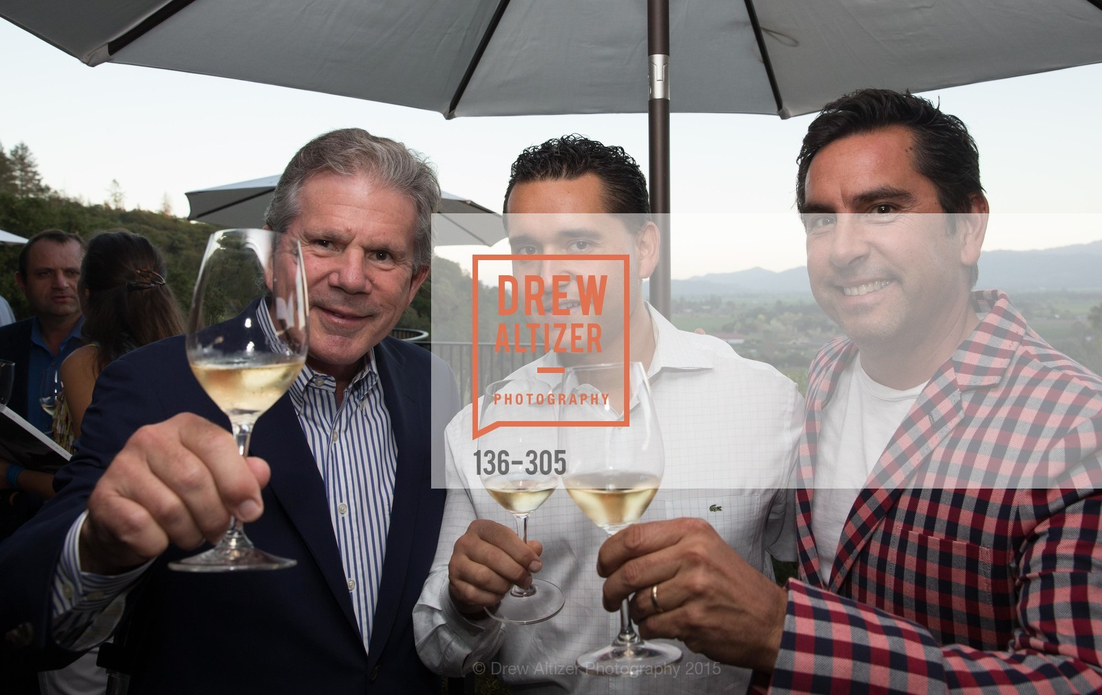 Bert Araujo, Desmond Echavarriv, Andy Erickson, LE PAN Napa Valley Launch Cocktail Party, Auberge dr Soliel, September 22nd, 2015,Drew Altizer, Drew Altizer Photography, full-service agency, private events, San Francisco photographer, photographer california